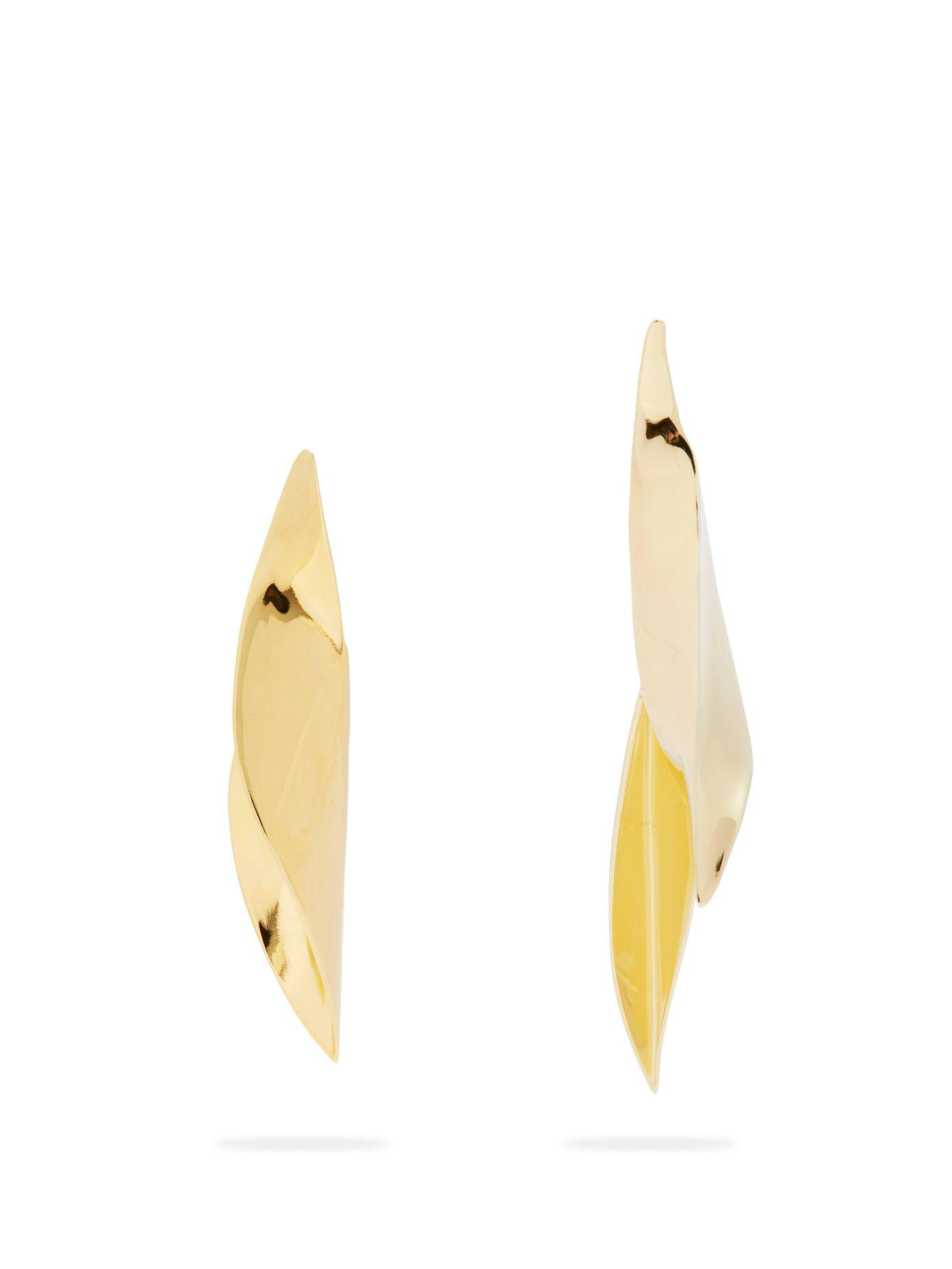 Ryan Storer Sansevieria gold-plated mismatched earrings oYmkH4pI9