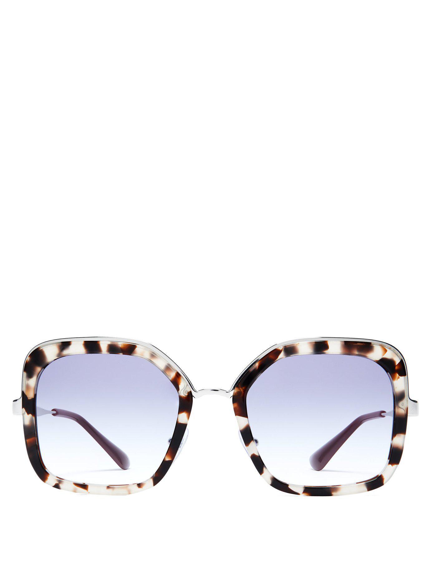 ed5c1abd34 Prada. Women s Square Frame Tortoiseshell Sunglasses