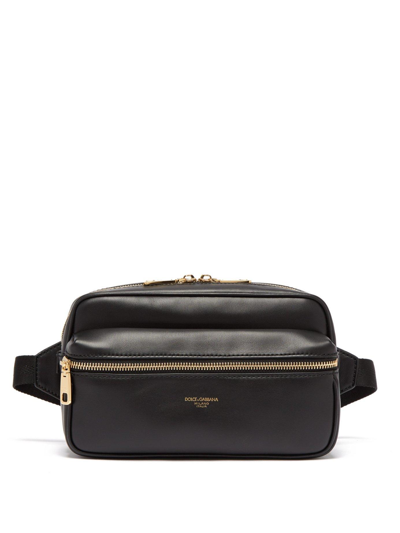 Lyst - Dolce   Gabbana Leather Cross Body Bag in Black for Men 5839512c10896