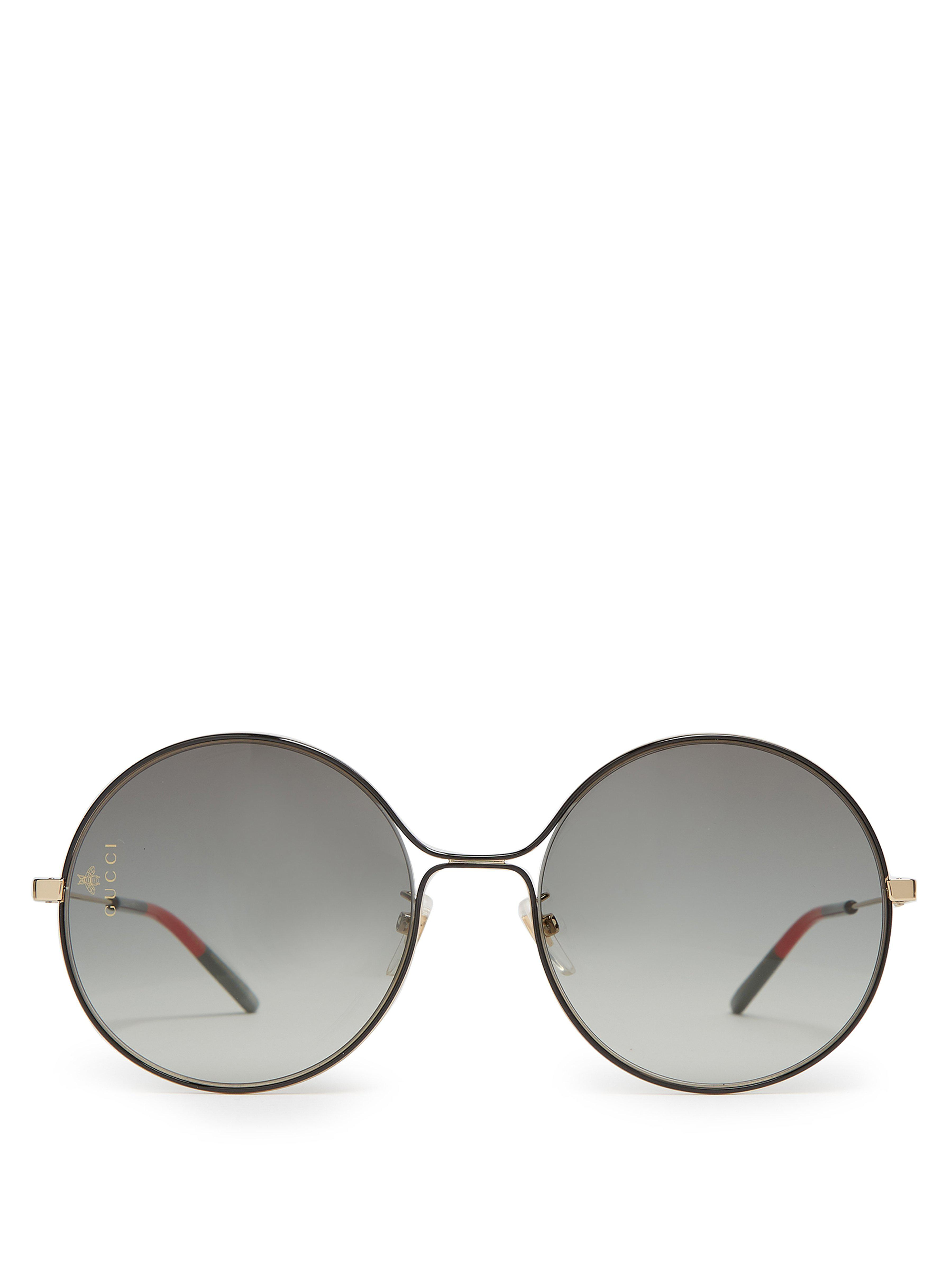1da50e44c9a Gucci - Multicolor Gg Rounded Frame Metal Sunglasses - Lyst. View fullscreen