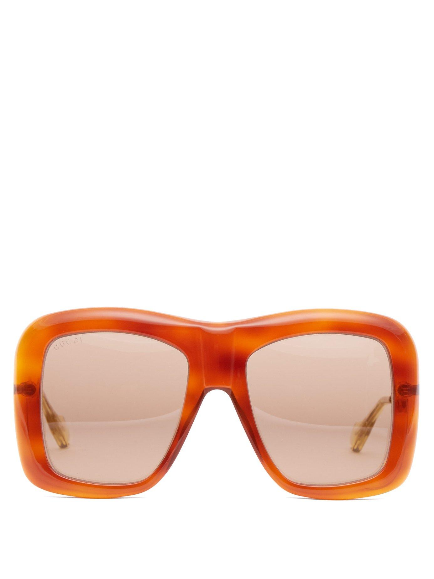 c177c292d97 Gucci. Women s Square Frame Acetate And Metal Sunglasses