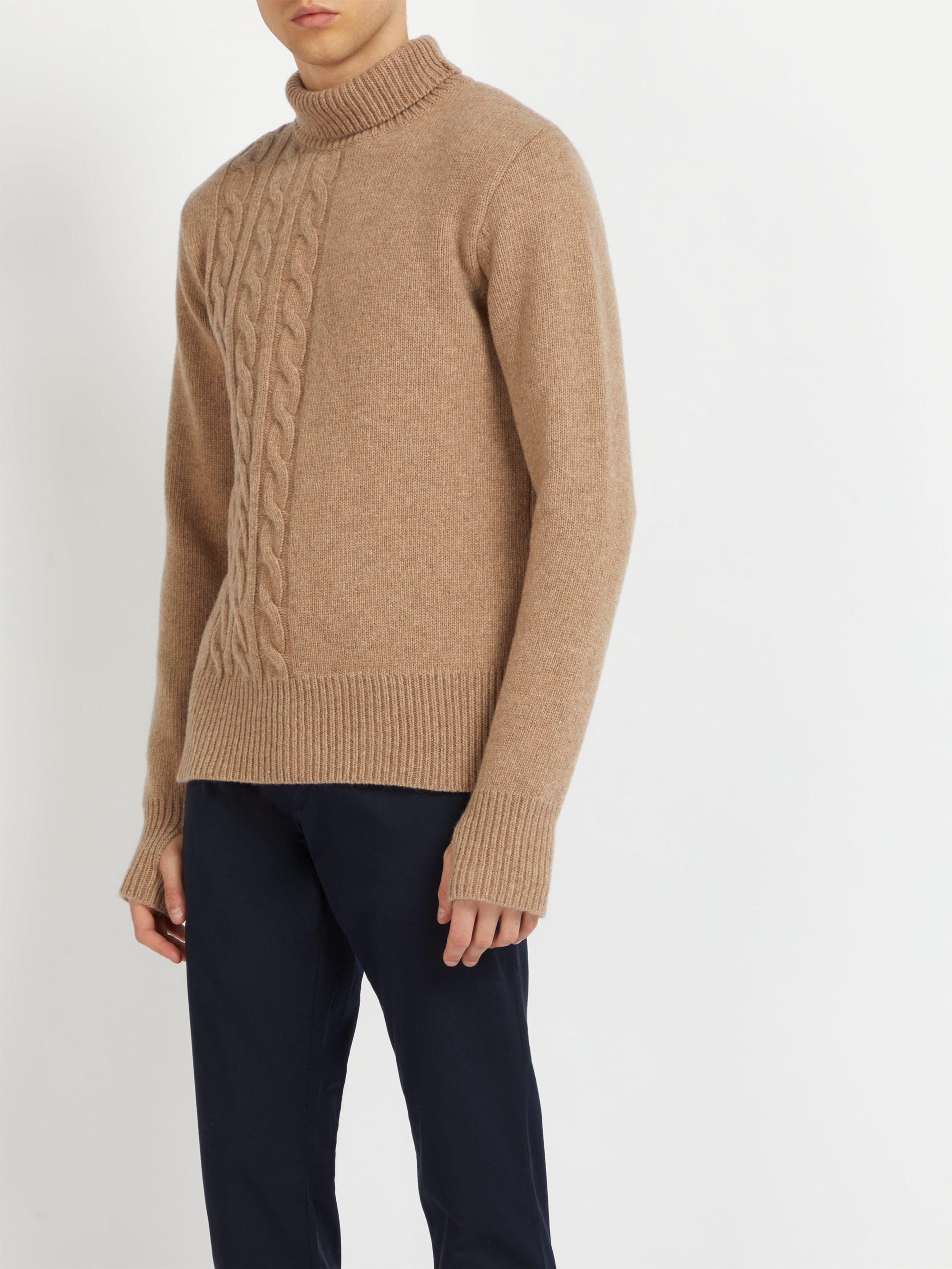 d7cbe00bf Oliver Spencer Talbot Roll Neck Wool Sweater in Natural for Men - Lyst