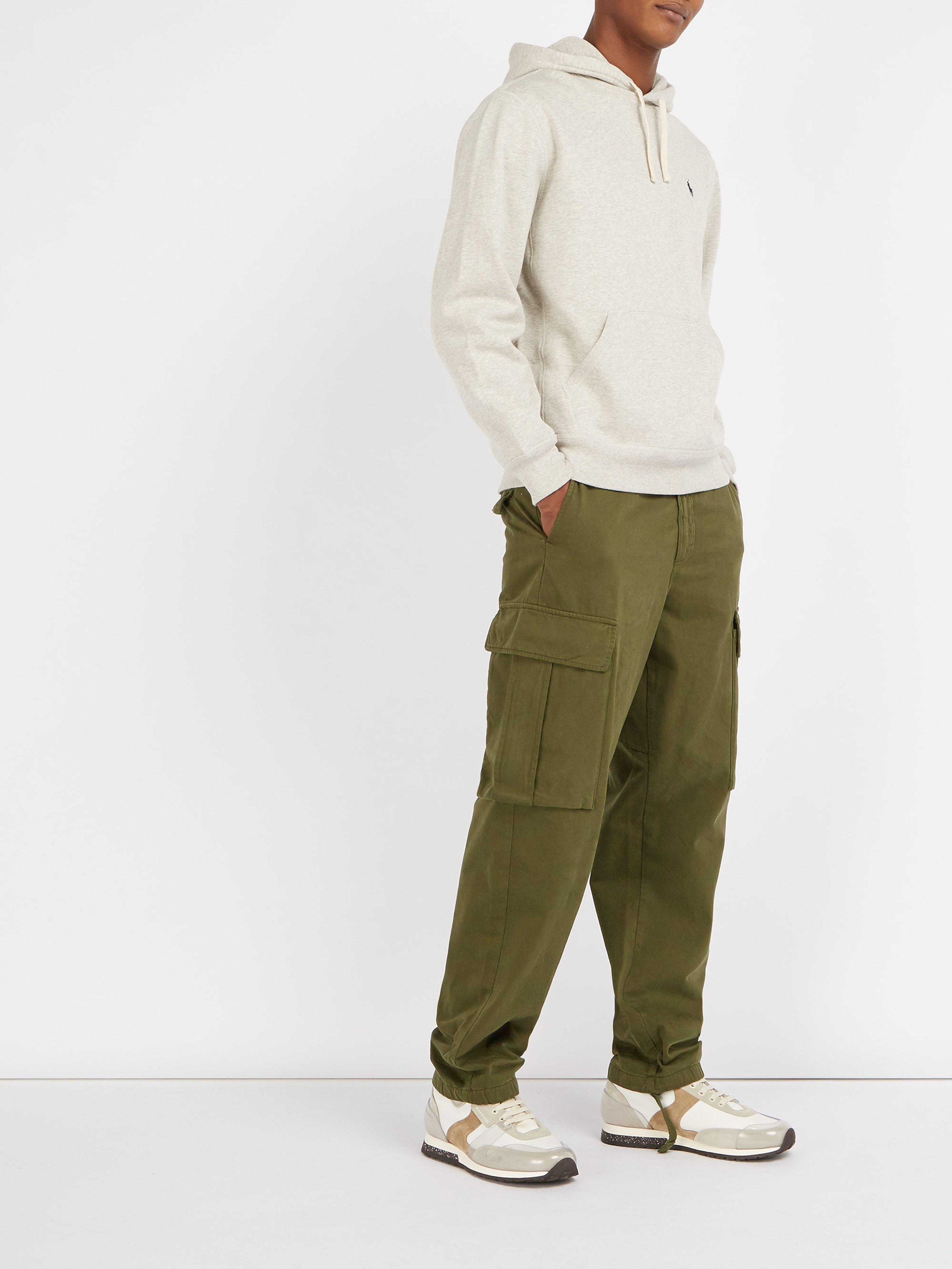 06fa67f2855c Polo Ralph Lauren Fleece Back Cotton Jersey Hooded Sweatshirt in Gray for  Men - Lyst