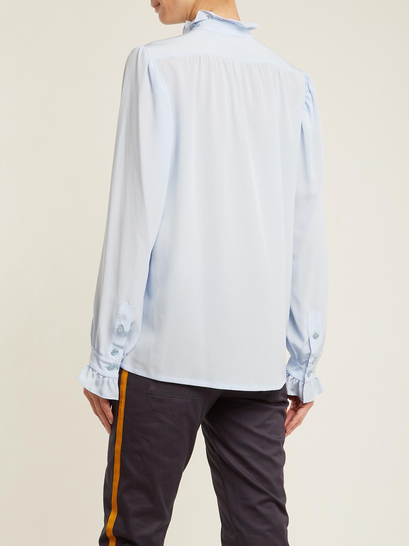 Ruffled-collar silk-crepe blouse Stella McCartney Discount Low Price SOp5B