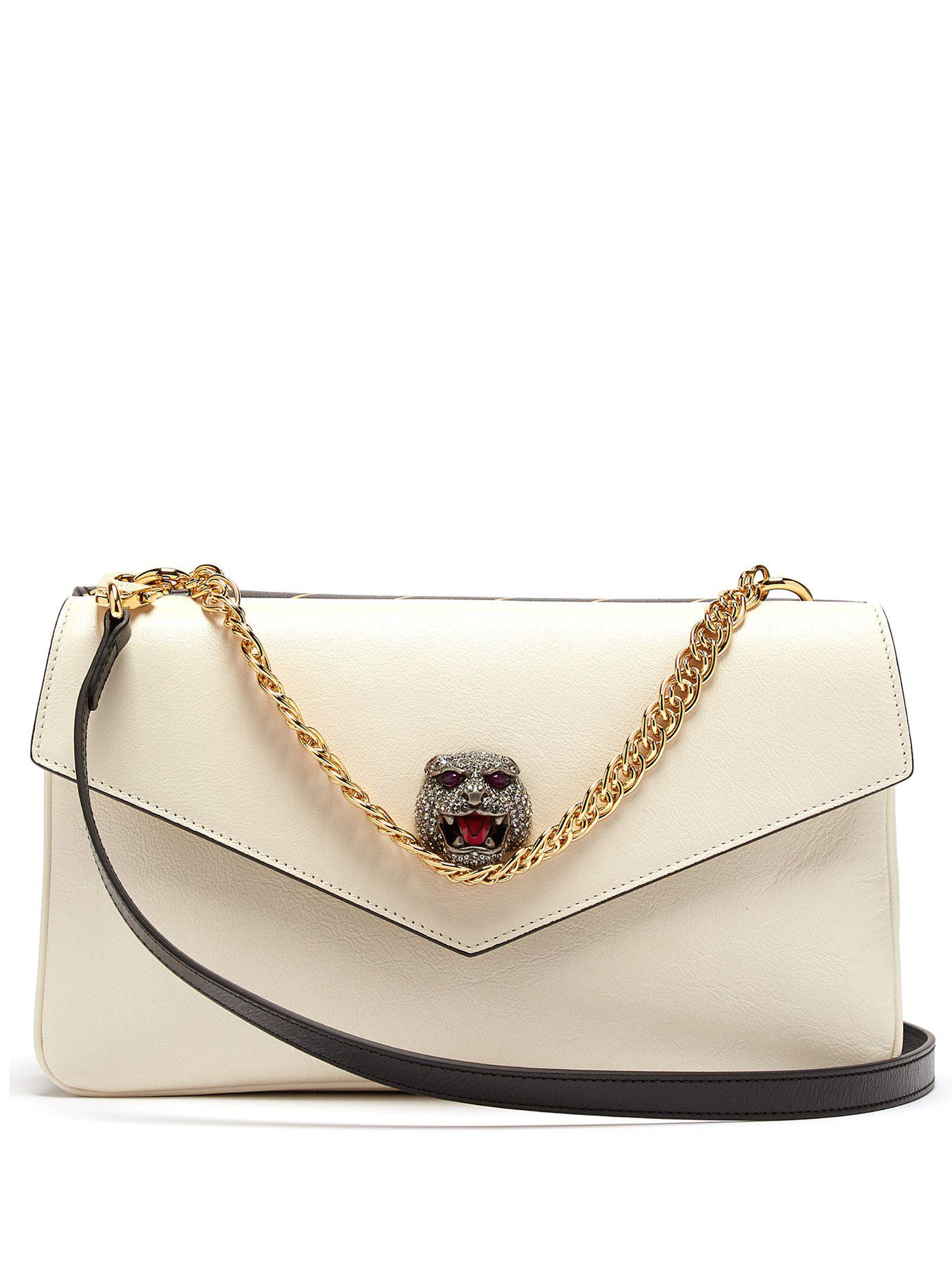 6bdfc84ff Gucci Thiara Gg Panther Head Cross Body Bag in Natural - Lyst