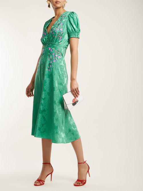 7305552a6 Saloni Lea Dress in Green - Lyst