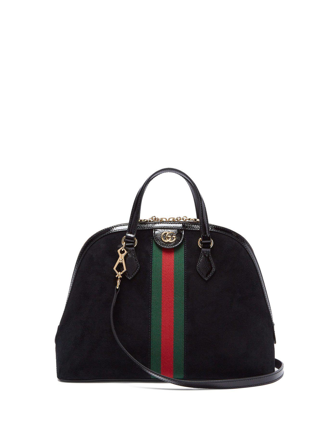 8f8095e14970 Gucci. Women s Black Ophidia Medium Top Handle Bag
