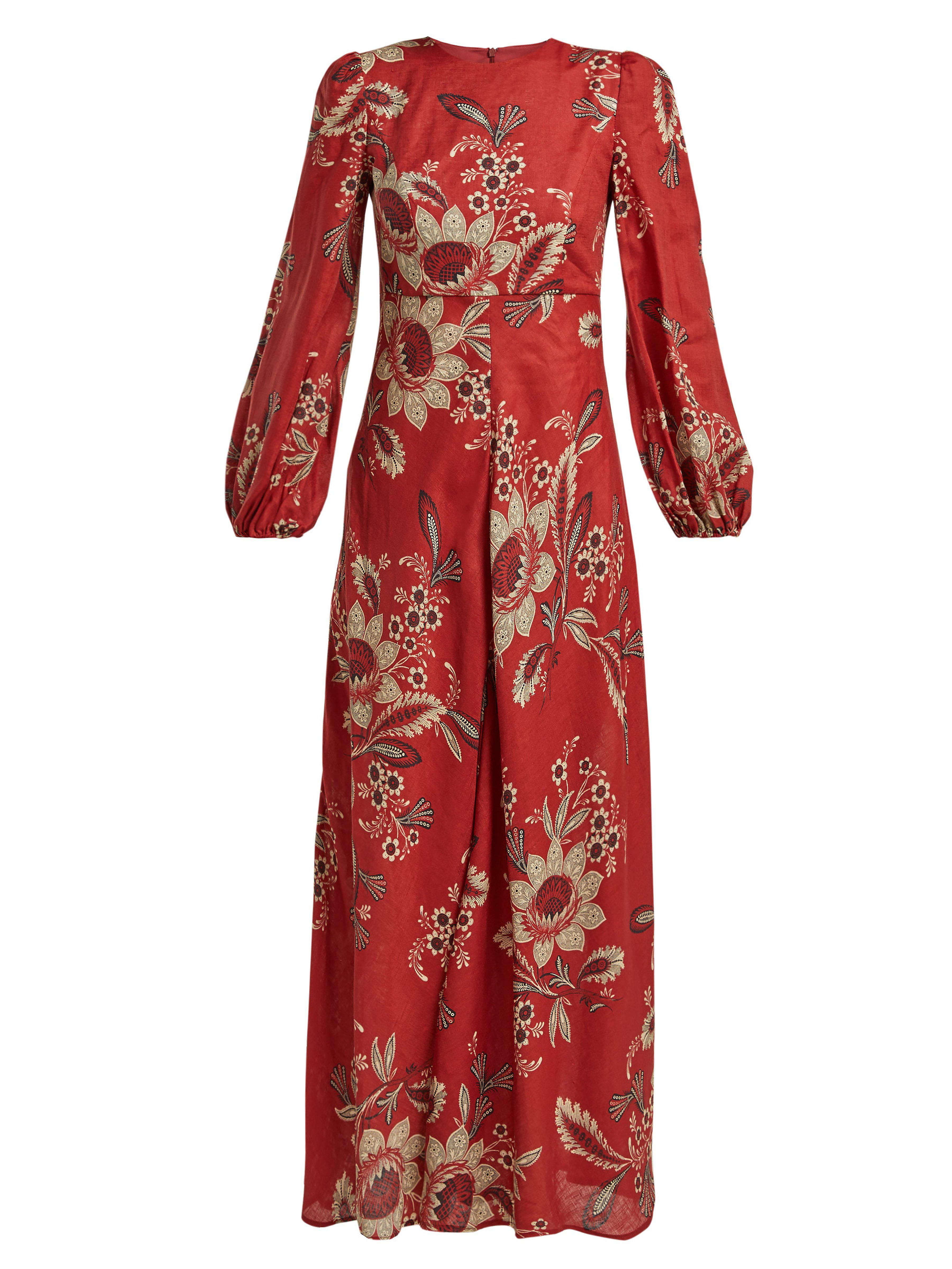 a76a2af91b4 Zimmermann Juno Rosa Batik Print Linen Dress in Red - Lyst