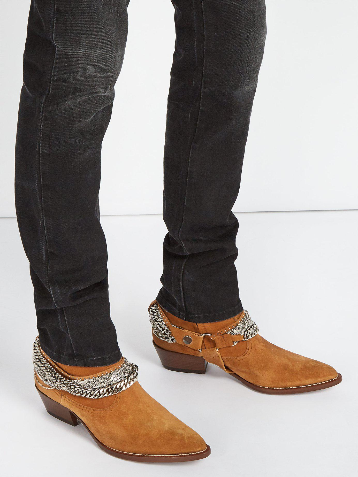 da2af22696a1 Amiri Western Chain Boots in Brown for Men - Save 43% - Lyst