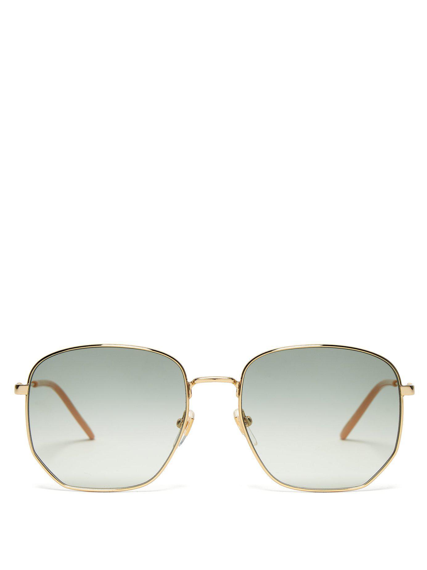 5aa488d9e27 Gucci - Multicolor Gg Metal Frame Sunglasses - Lyst