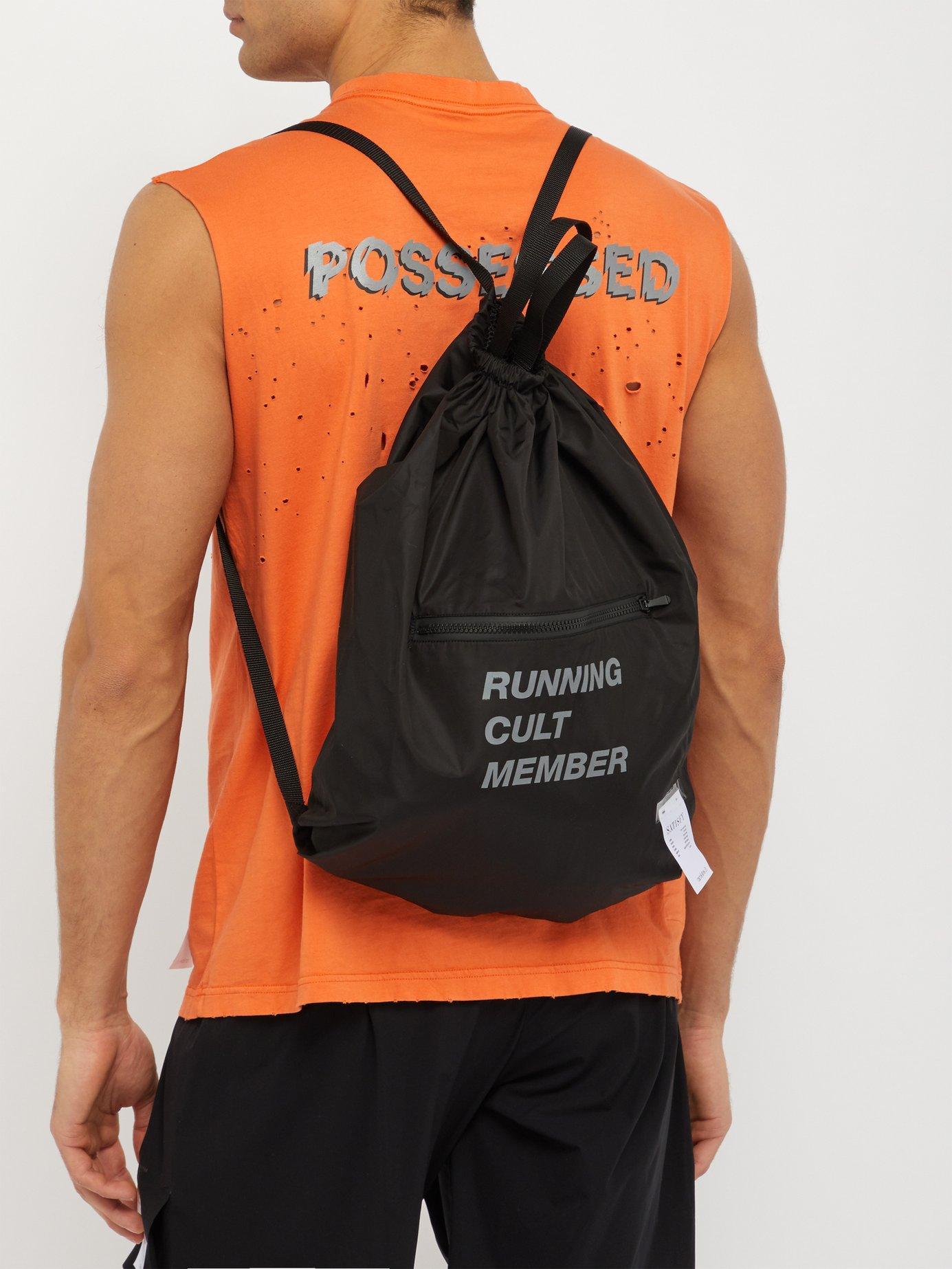 Satisfy - Black The Gym Bag Printed Backpack for Men - Lyst. View fullscreen d3943c966409c