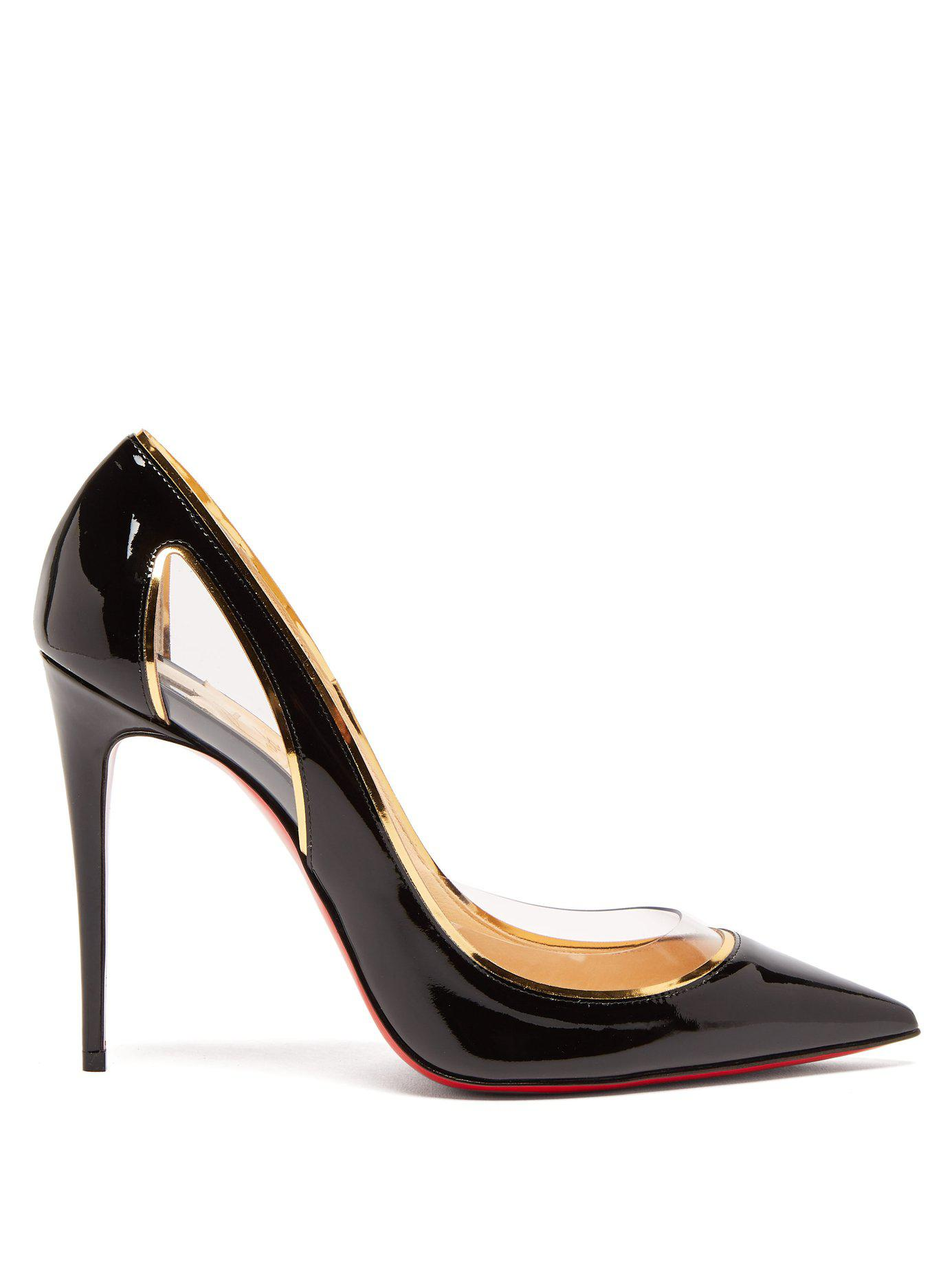 072c4419581 Christian Louboutin Cosmo 554 100 Patent Leather Pumps in Black - Lyst