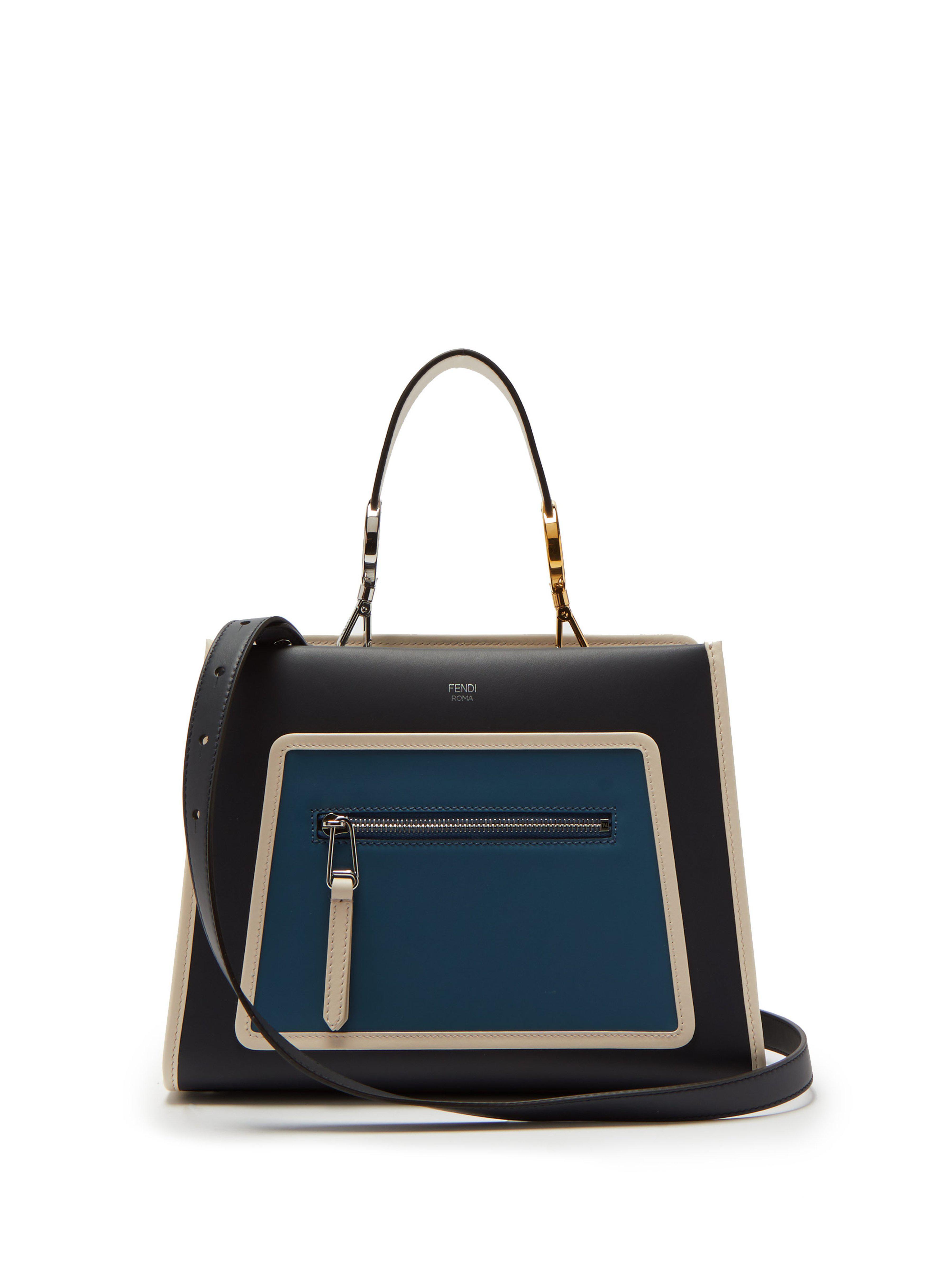 142abdee4b63 Fendi Runaway Leather Bag in Blue - Lyst