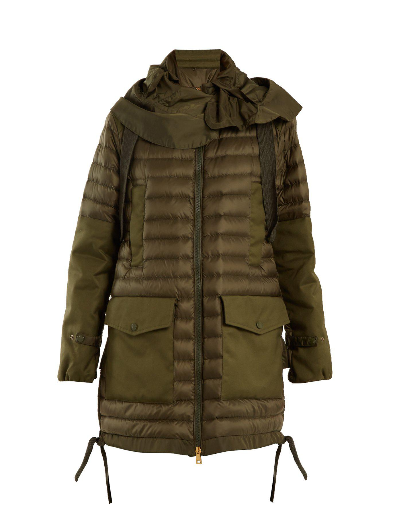 718254745 Lyst - Moncler Cyanite Quilted Down Jacket