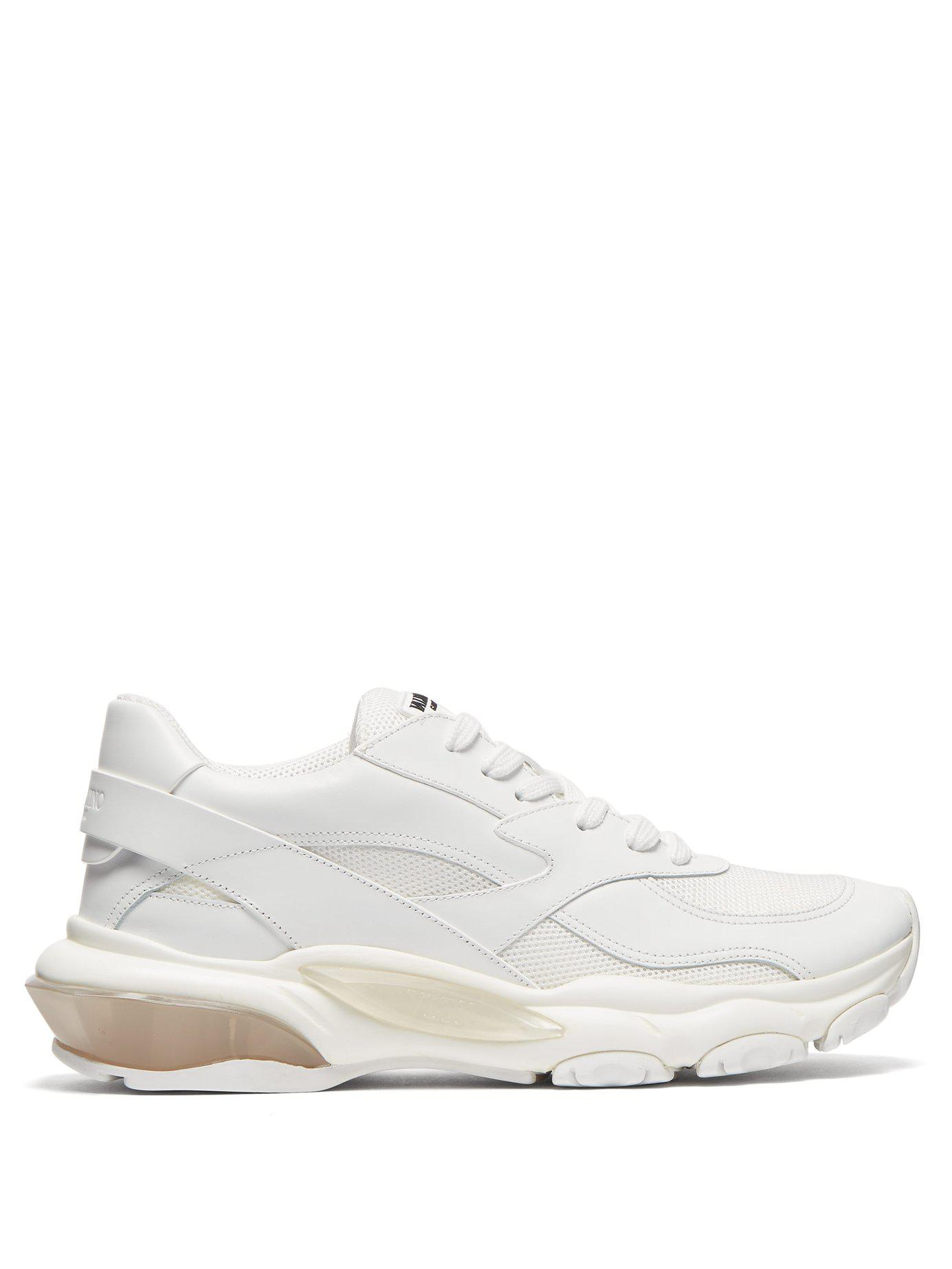 41561689923a Lyst - Valentino Bounce Low Top Leather Trainers in White - Save 13%
