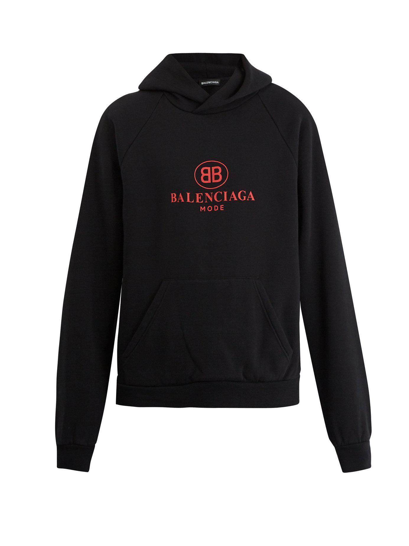 8b1d3b4f9a38 Lyst - Balenciaga Bb Print Hooded Sweatshirt in Black for Men