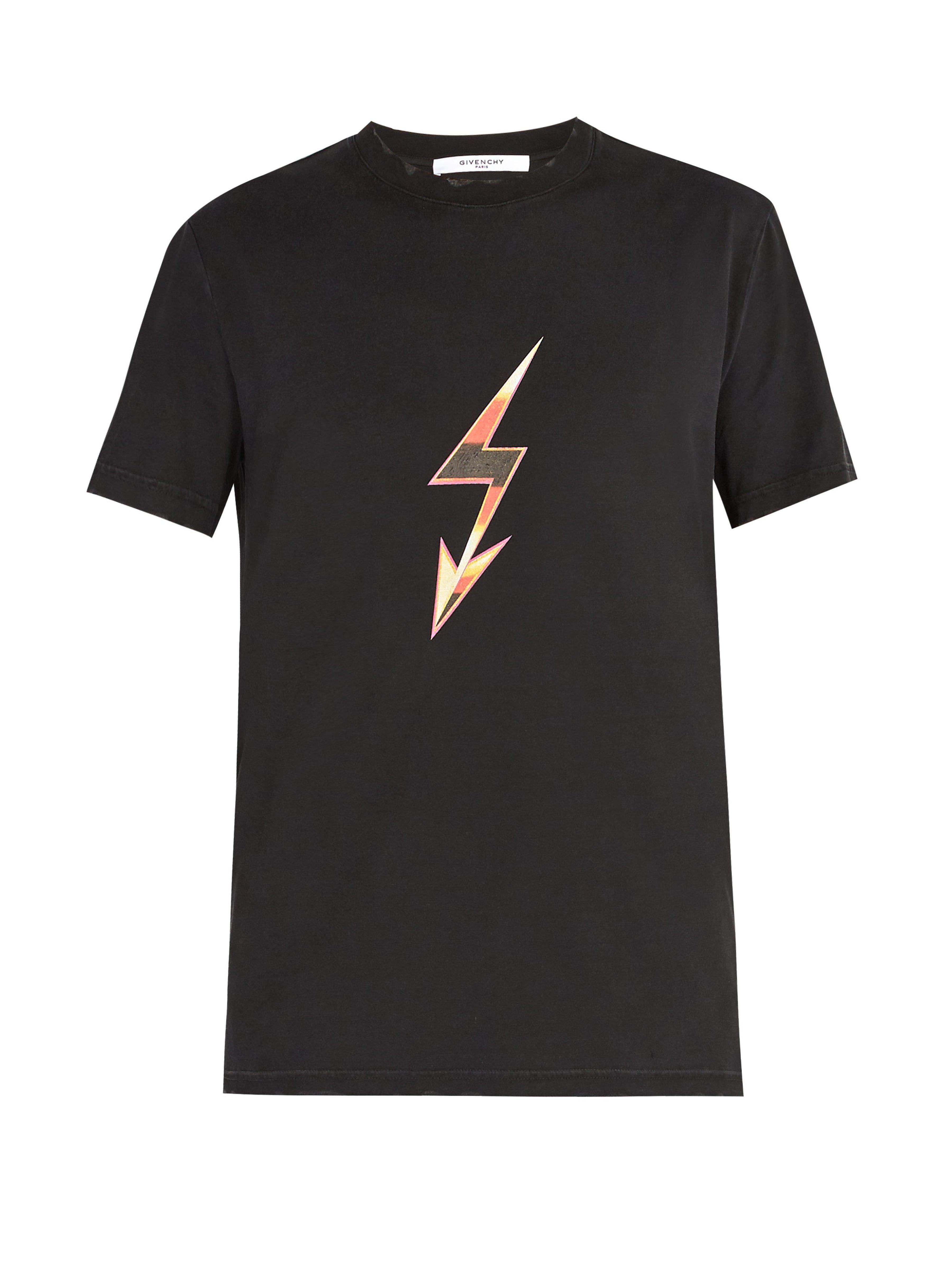 3cd8eb4ab63 Lyst - T-shirt en coton imprimé flèche-éclair Givenchy pour homme en ...