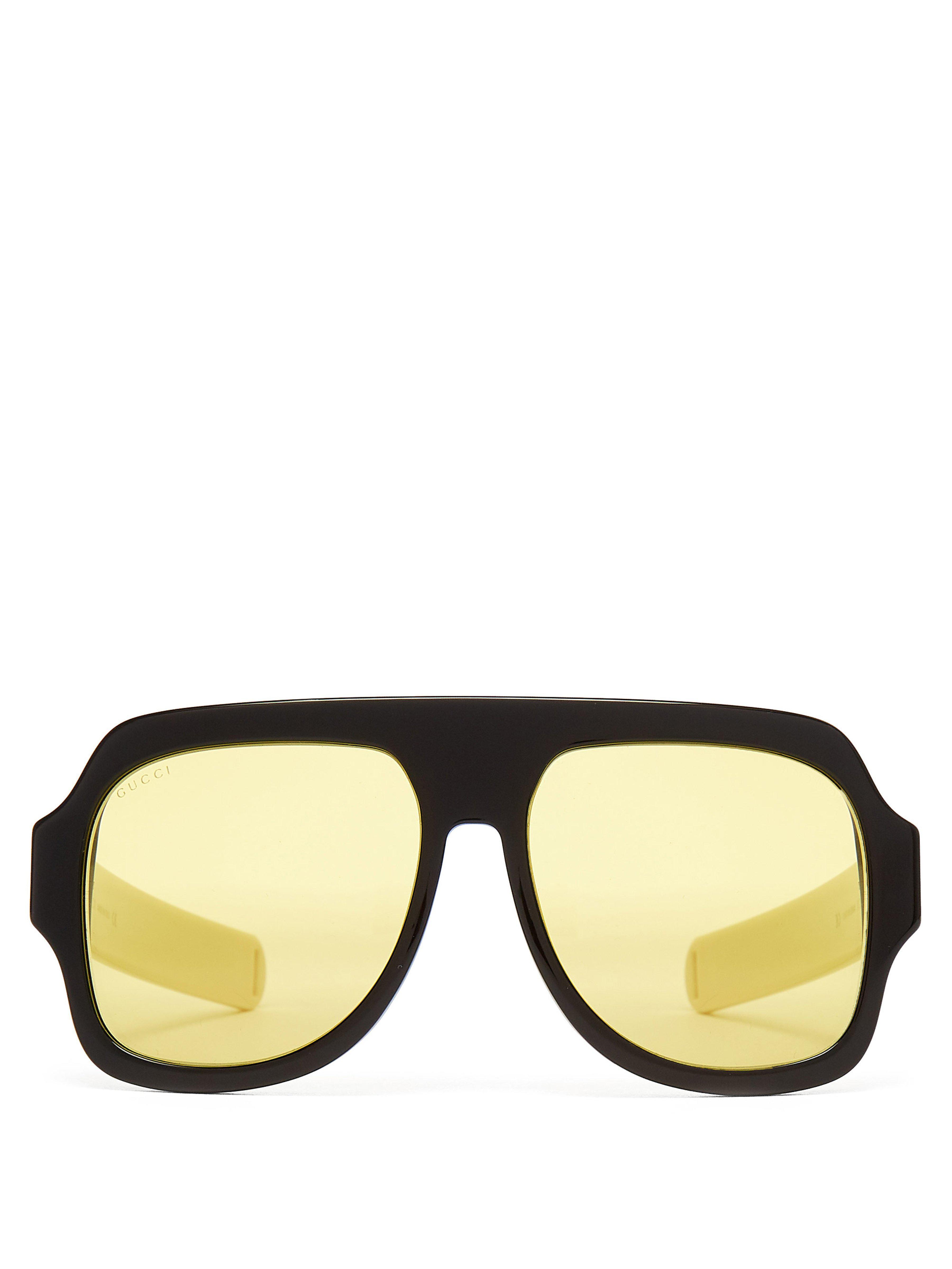 5f44d9faf8 Gucci - Black D Frame Acetate Sunglasses for Men - Lyst. View fullscreen