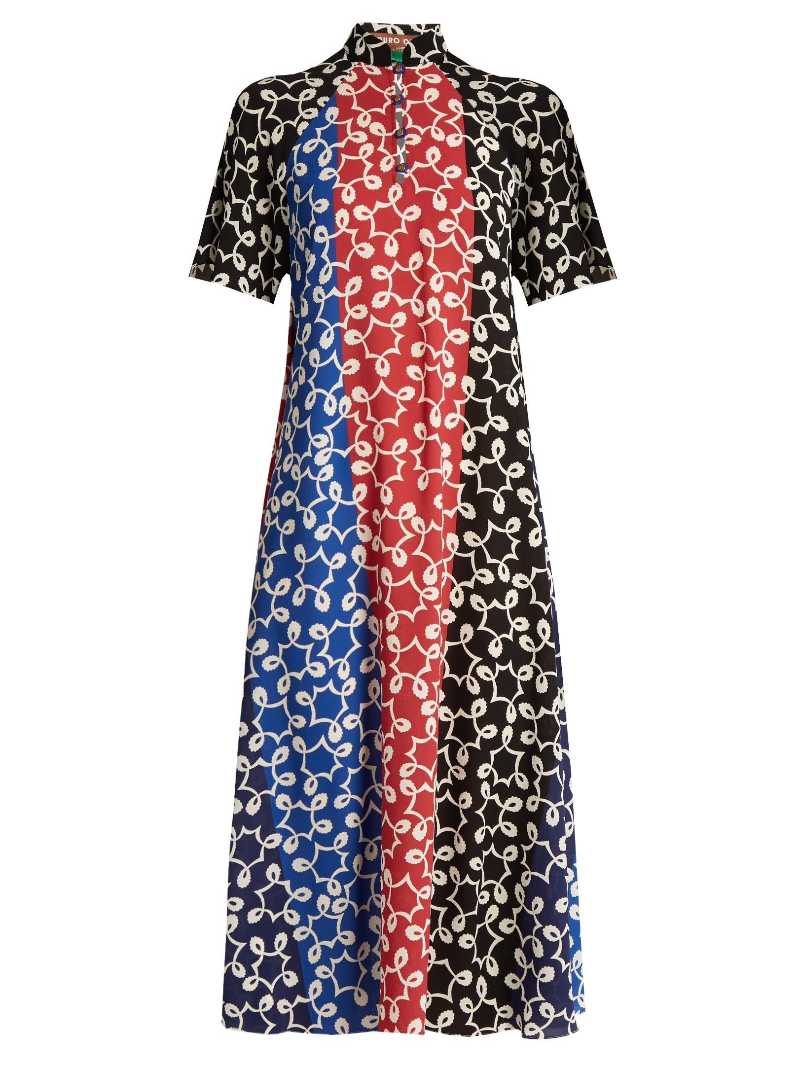 Perfect Cheap Price 2018 Online Nina contrast-panel crepe dress Duro Olowu With Paypal Free Shipping Free Shipping Latest 9cT8HPm