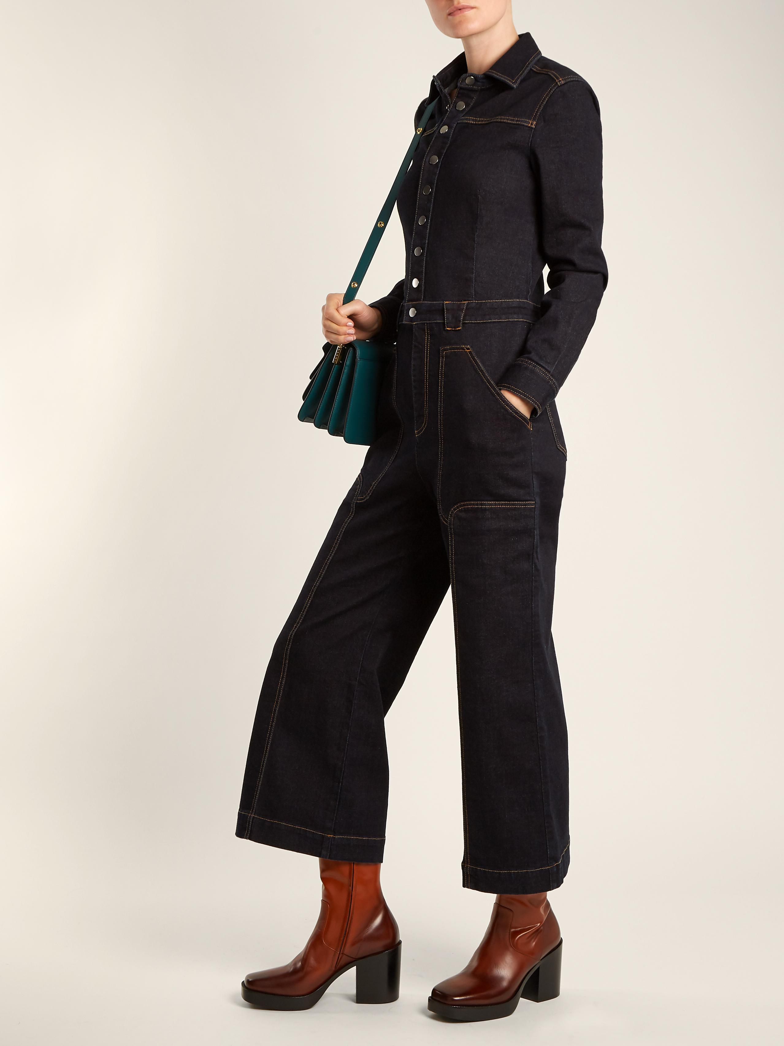Aio point-collar wide-leg jumpsuit Stella McCartney Get New dIyG6x59Ek