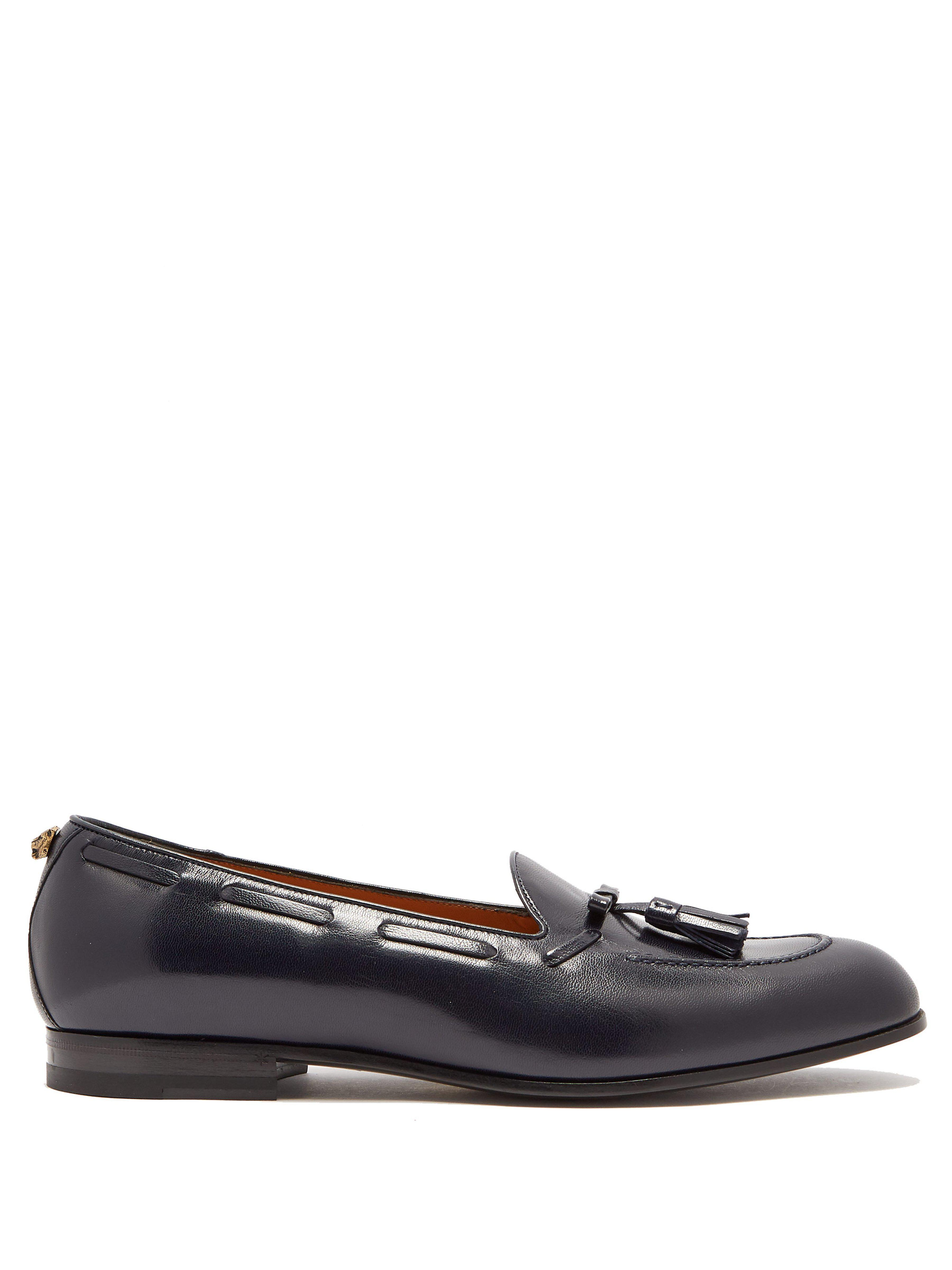 ac3bf004db9 Gucci Leather Tassel Loafers in Blue for Men - Lyst