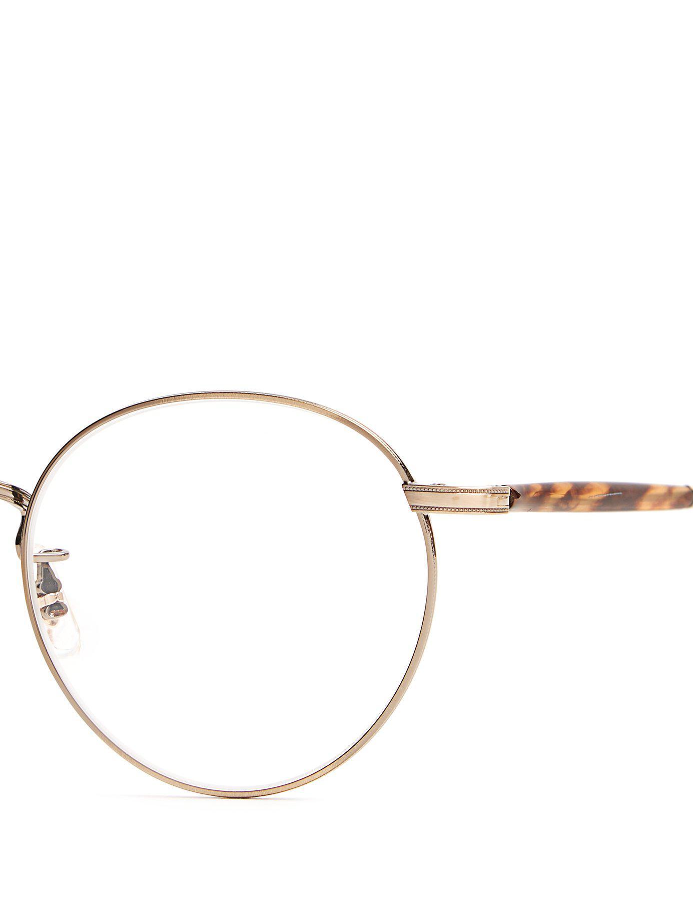 930f892ff72 Garrett Leight - Metallic Wilson 49 Round Frame Glasses for Men - Lyst.  View fullscreen