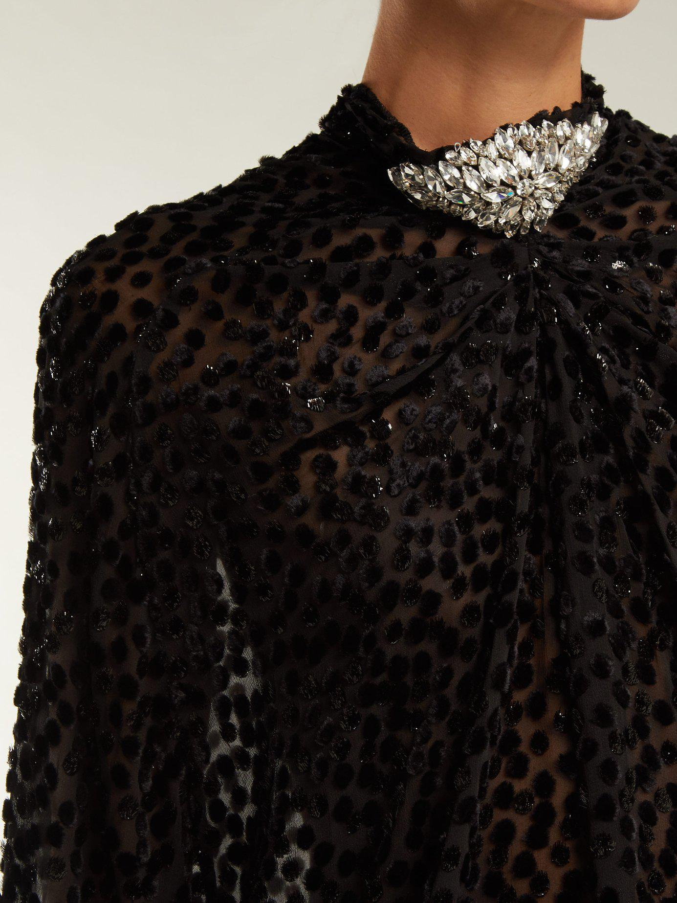 Dodo Bar Or Ida Dress.Lyst Dodo Bar Or Ida Polka Dot Fil Coupe Mini Dress In Black