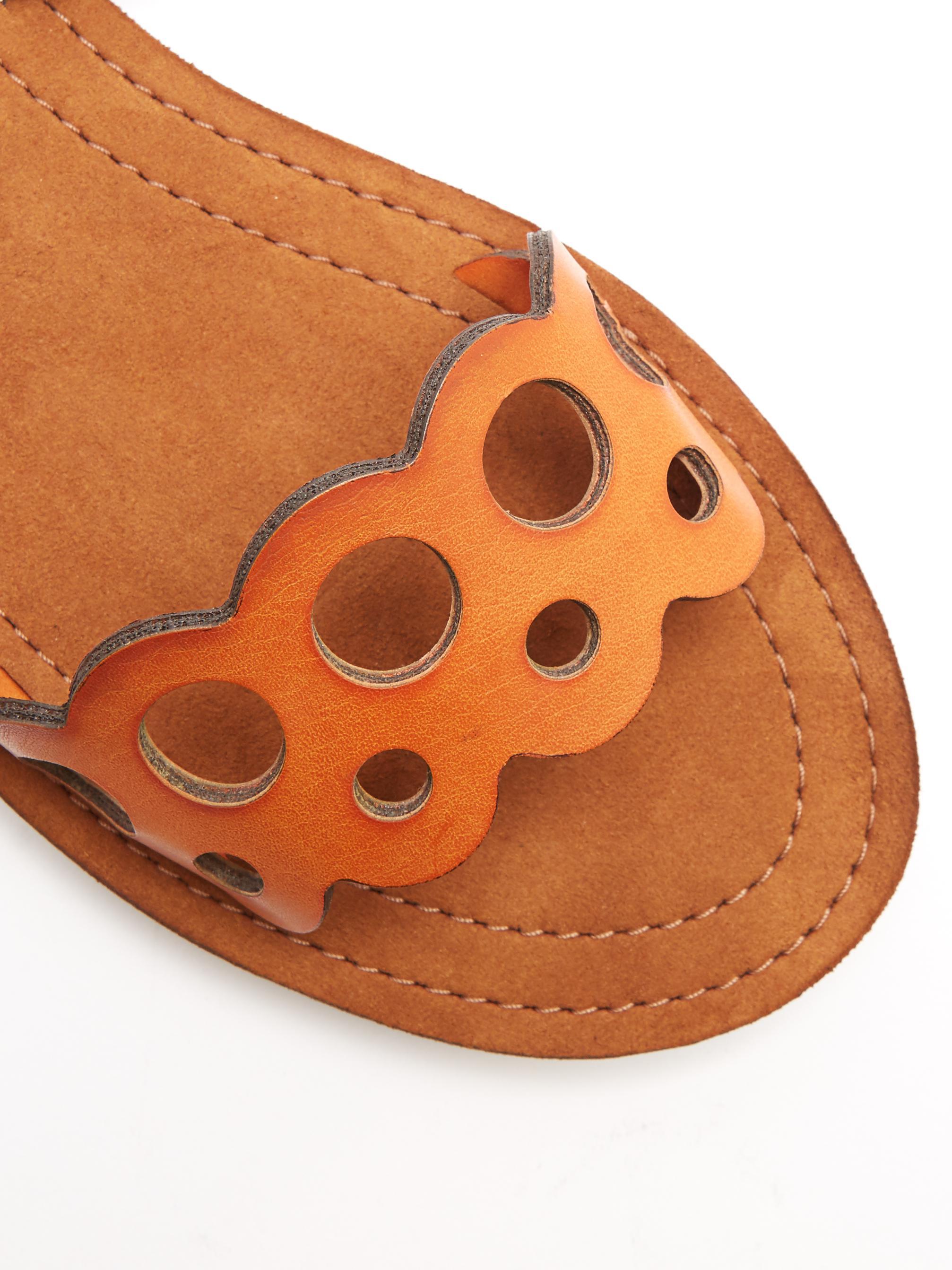 9c9d7de27e56a5 Lyst - Stella McCartney Laser-cut Faux-leather Sandals