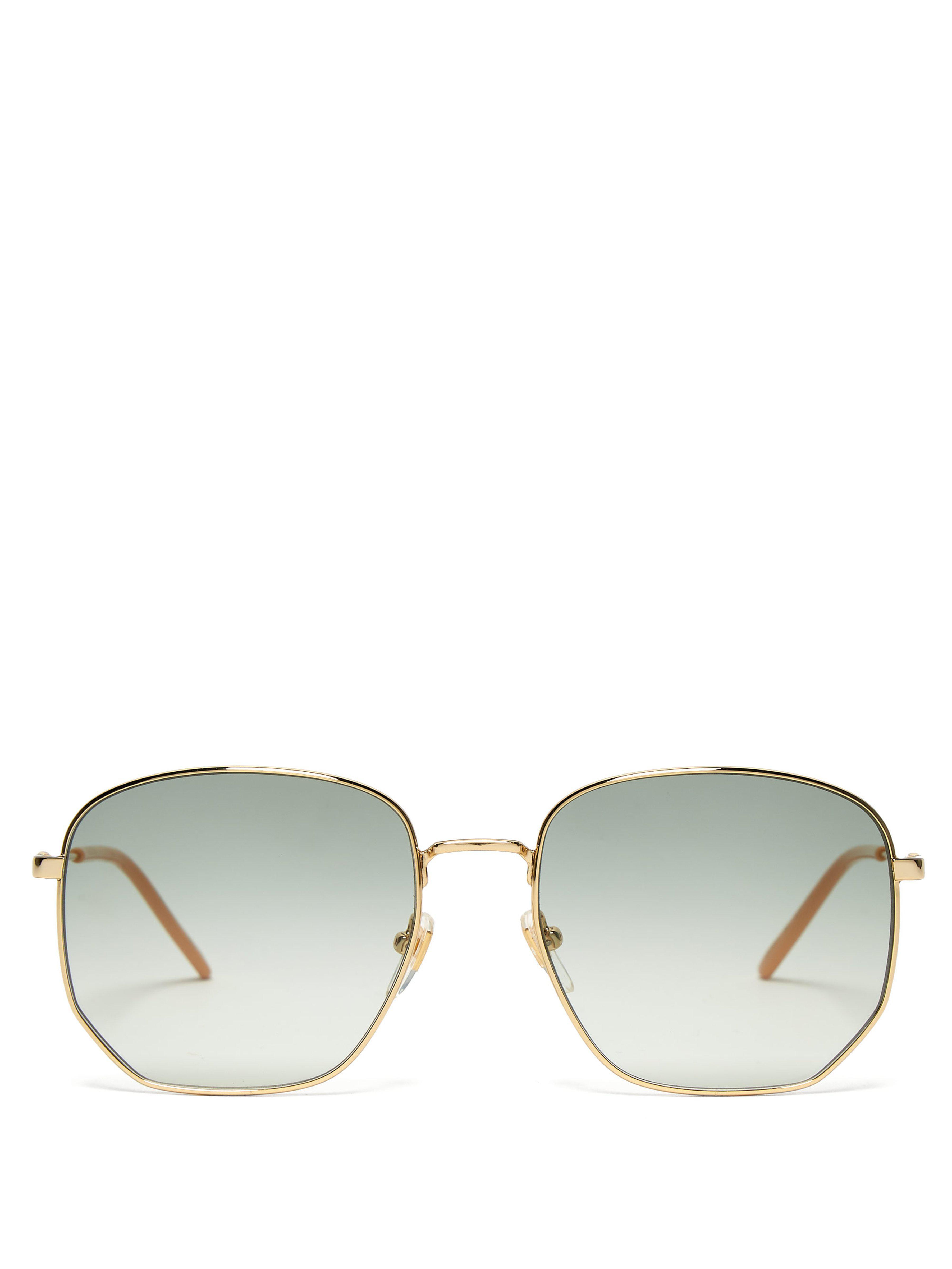 7769cc7ee1 Gucci Gg Metal Frame Sunglasses - Lyst