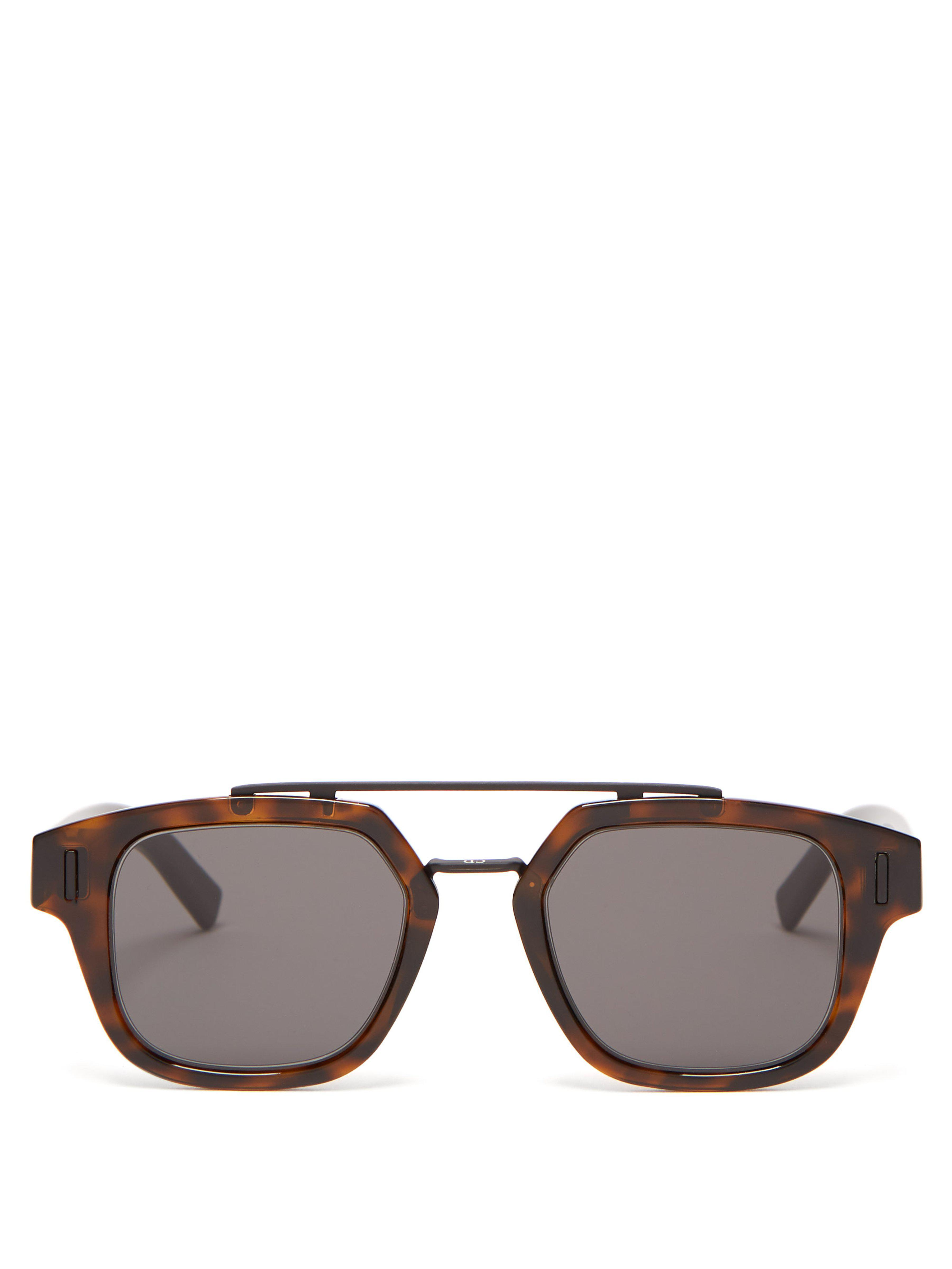 bbcf59f71bc Dior Homme Diorfraction1 Acetate And Metal Sunglasses in Brown for ...