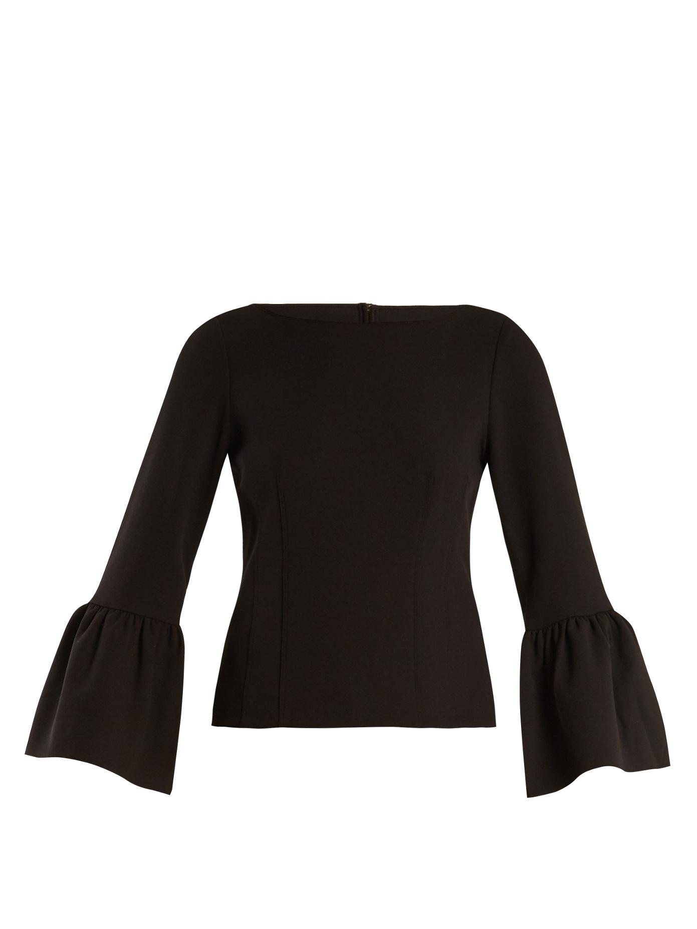 Bell-cuff contoured crepe top Tibi Collections Best Sale For Sale Fake Sale Online Best Sale Exclusive cXWIDPjx