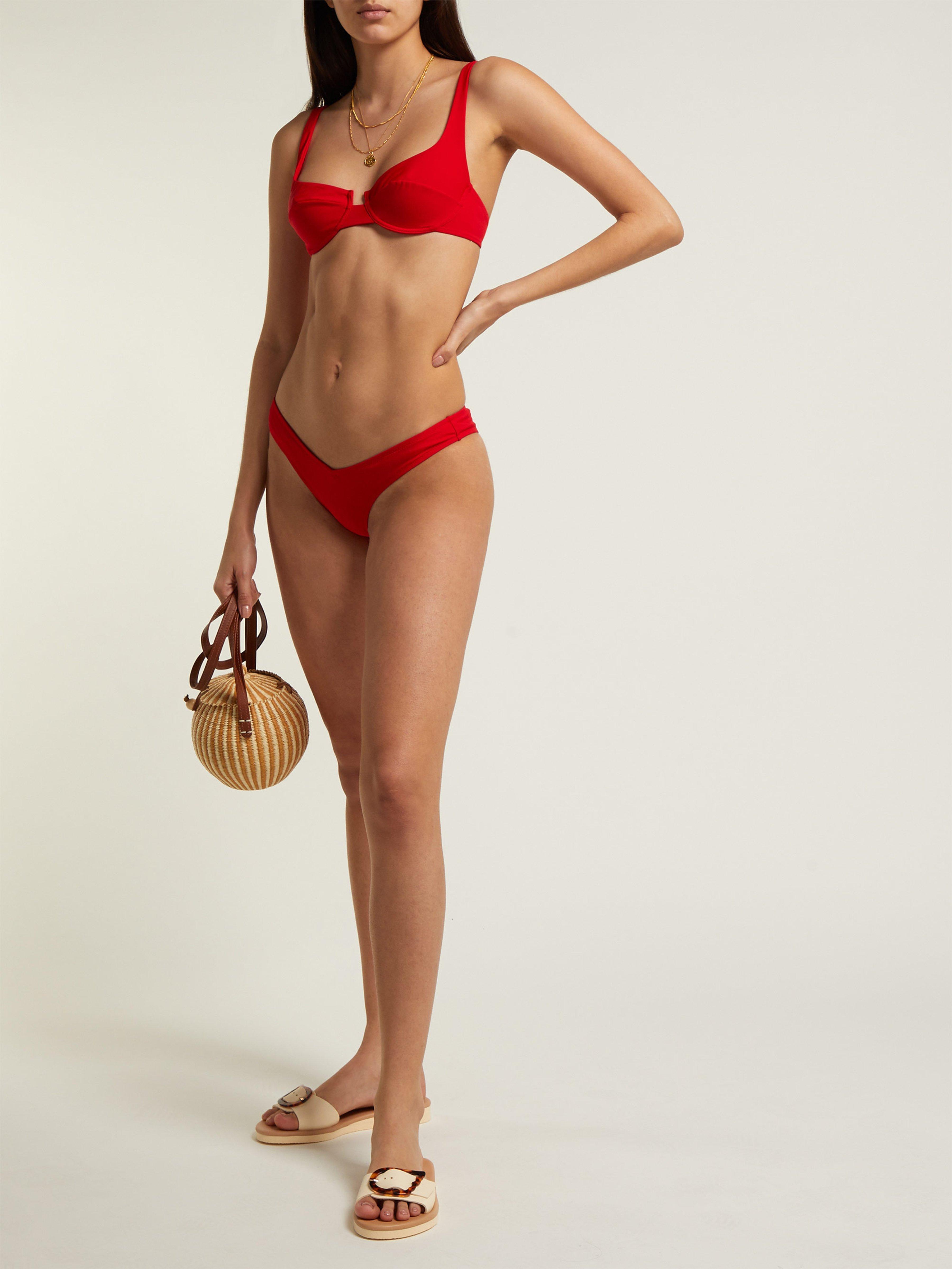 88ad42d4e81ce Fisch Toiny High Leg Bikini Briefs in Red - Lyst