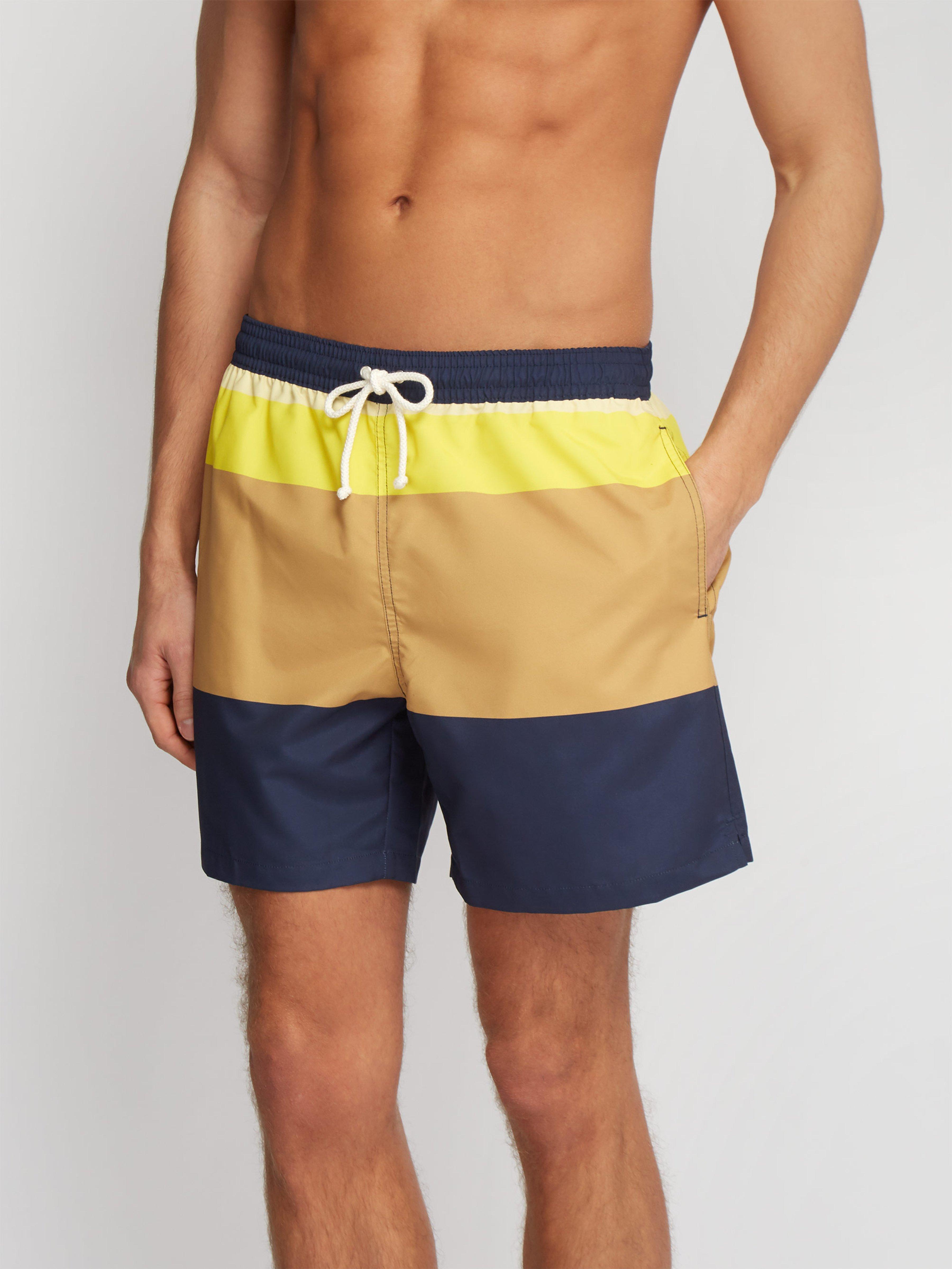 10c41f3902 Maison Kitsuné Colour Block Swim Shorts in Blue for Men - Save 8% - Lyst