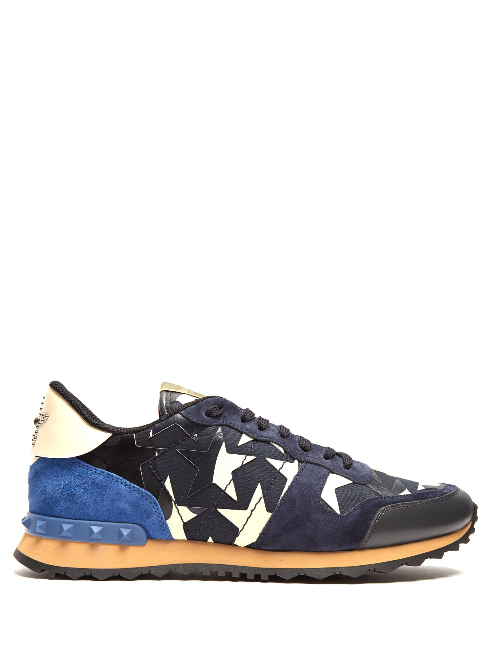 209ed7d6be4 Lyst - Valentino Rockrunner Camustars Trainers in Blue for Men