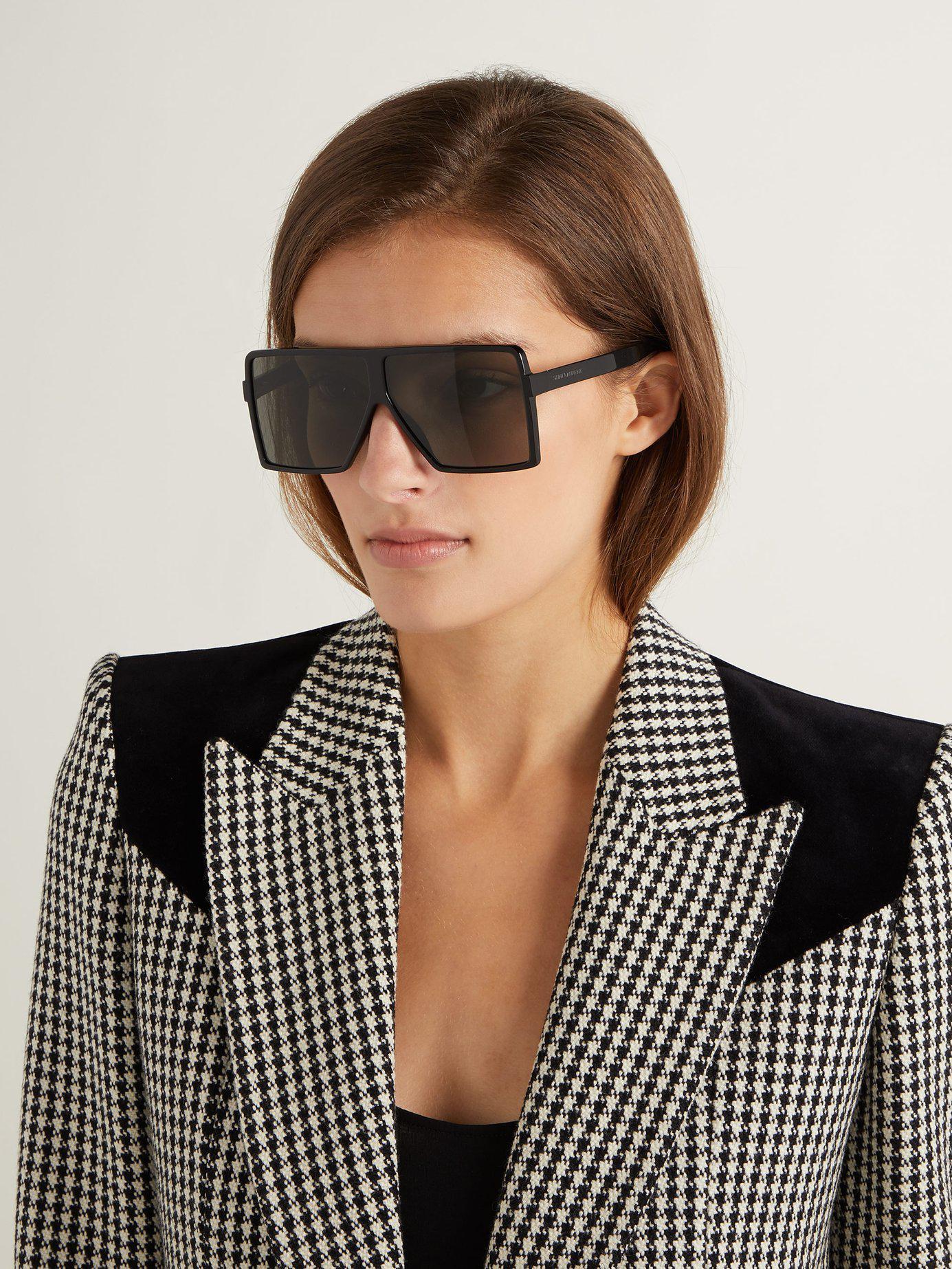 Sunglasses Black Lyst Laurent Saint Acetate Top Betty Flat qwBWYw5zx0
