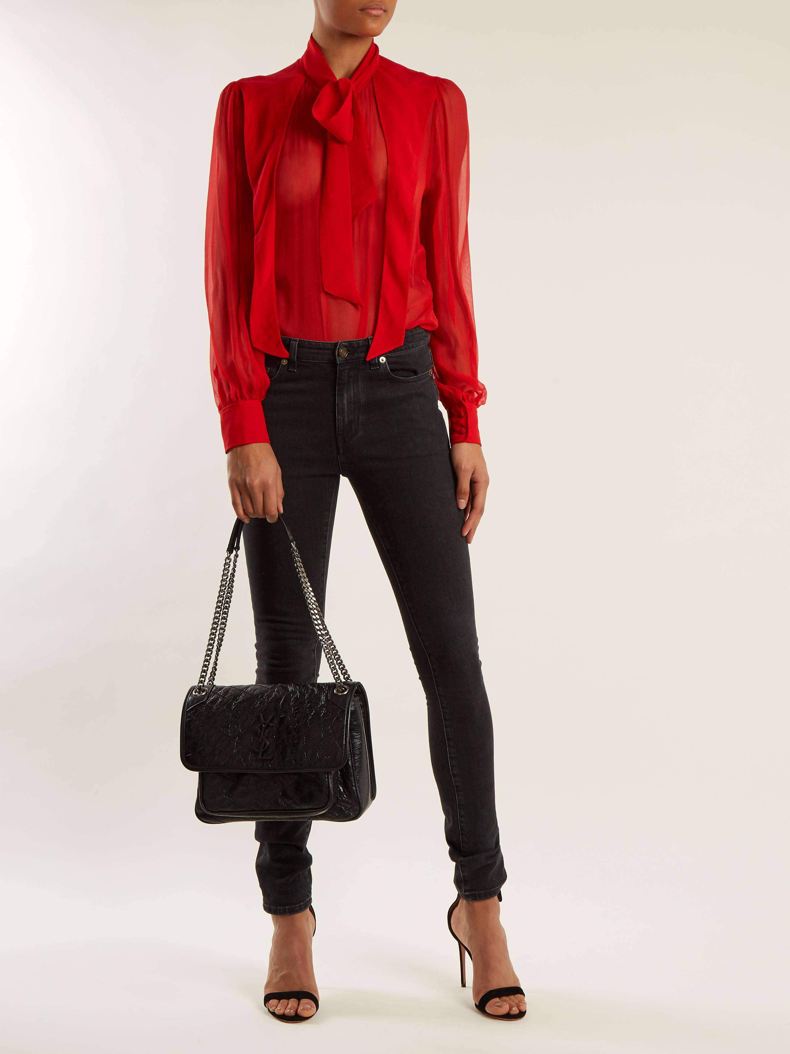 9ec07e5a1e24 ... Saint Laurent Niki Medium Quilted Leather Bag in Black - Lys low priced  dc36e 7afcb ...