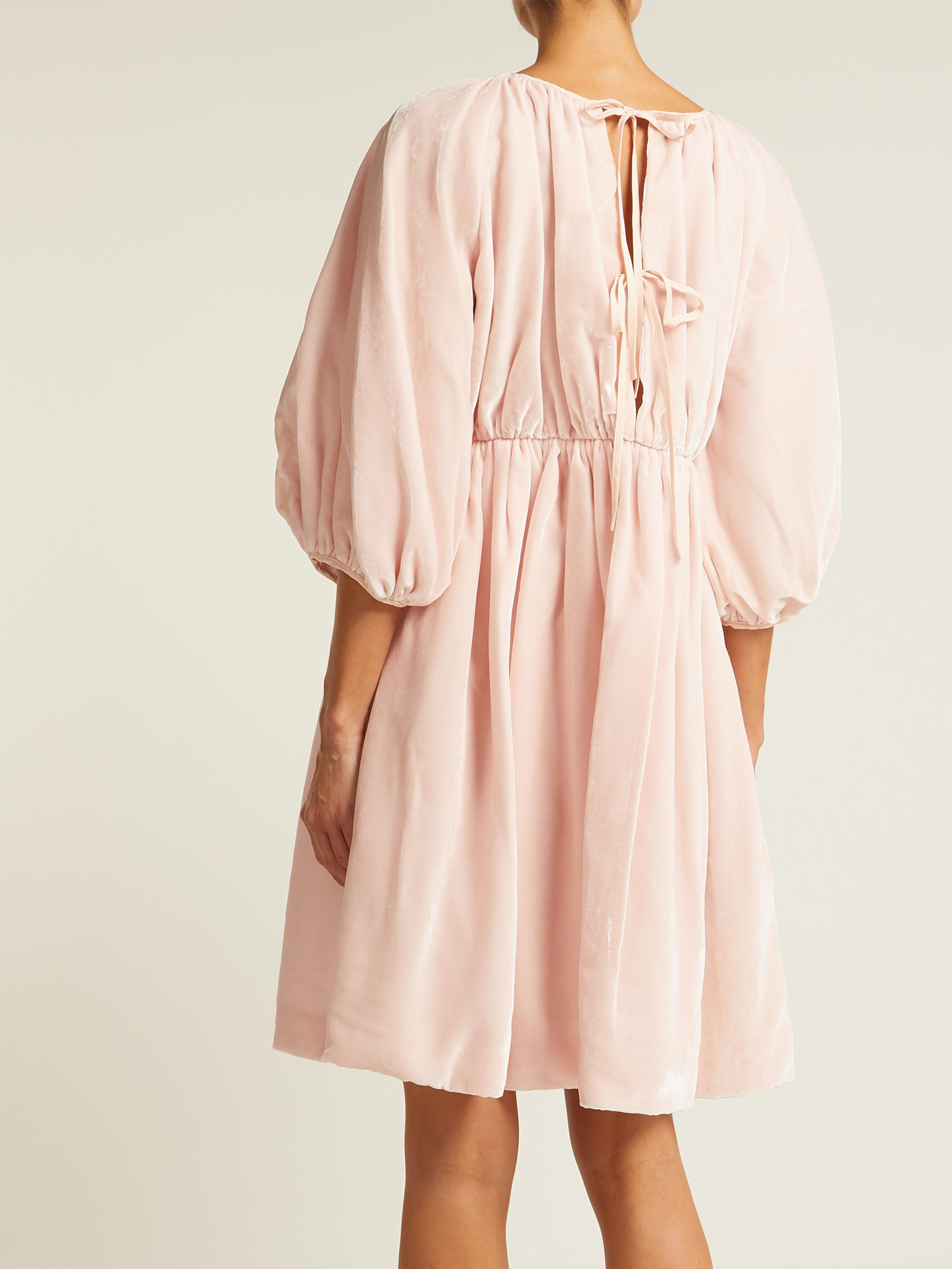 9ca8fc74277e Cecile Bahnsen Ava Velvet Mini Dress in Pink - Lyst
