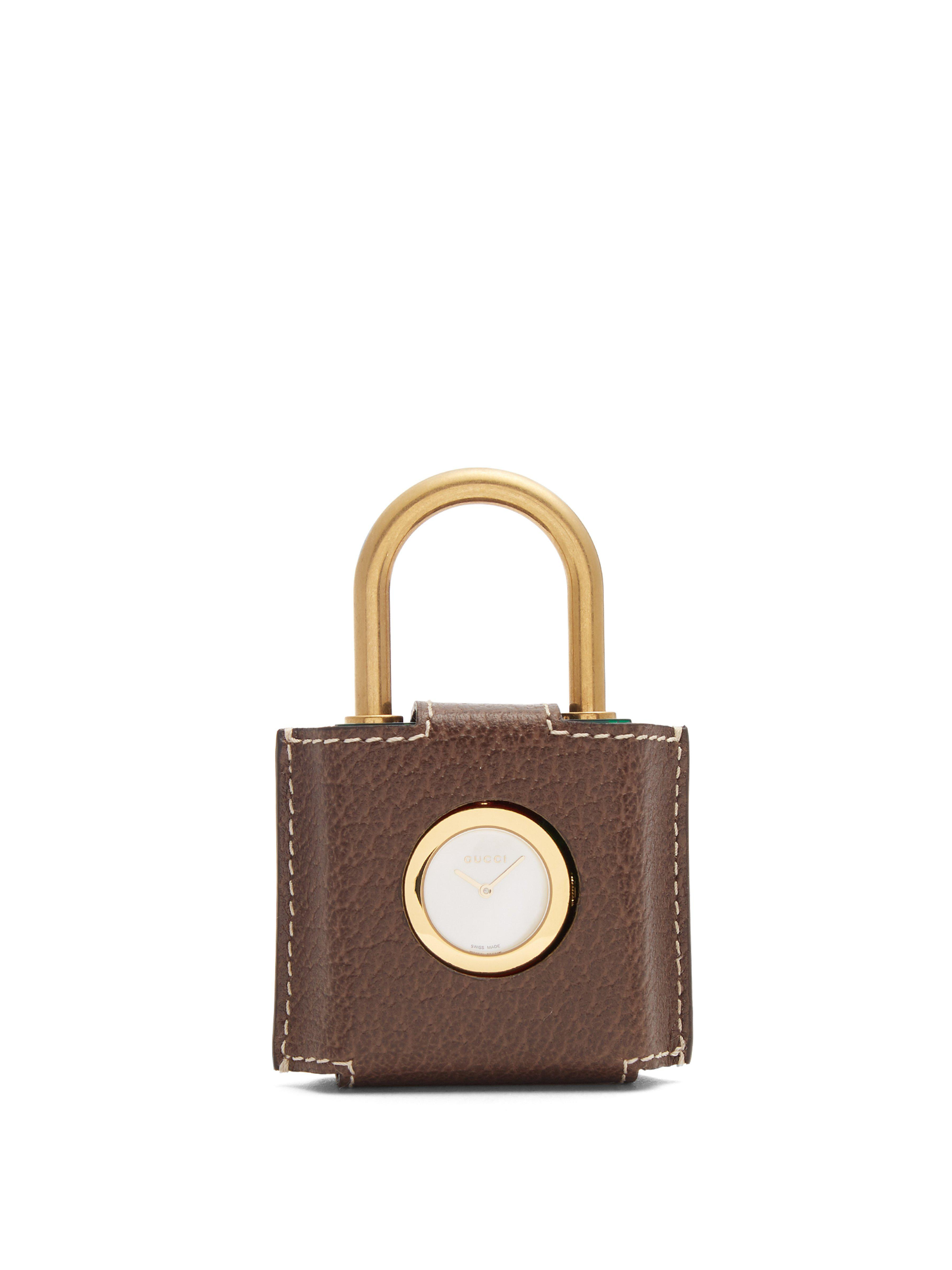 Gucci Constance Web Striped Plexiglas Padlock Watch in Green - Lyst 28879b538442f