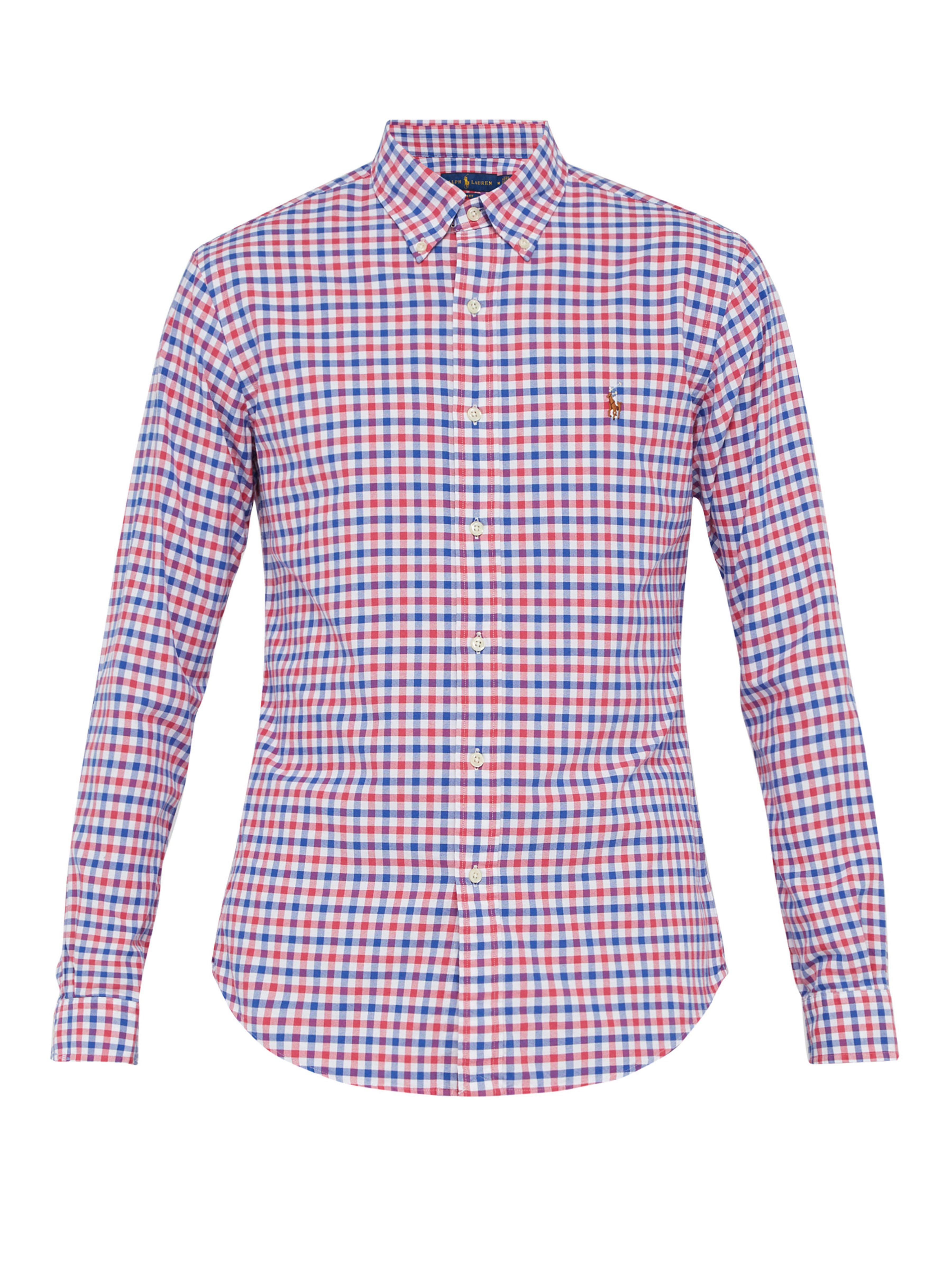 25934dedfd9 Polo Ralph Lauren Checked Cotton Shirt in Red for Men - Lyst