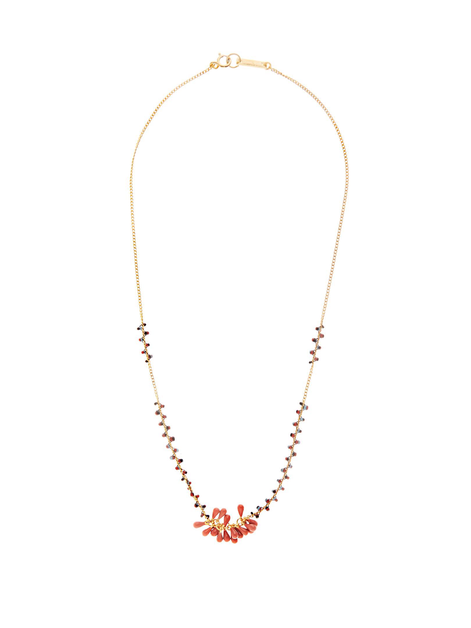 Perky Ras de Cou beaded necklace Isabel Marant FDi7KO8pu9