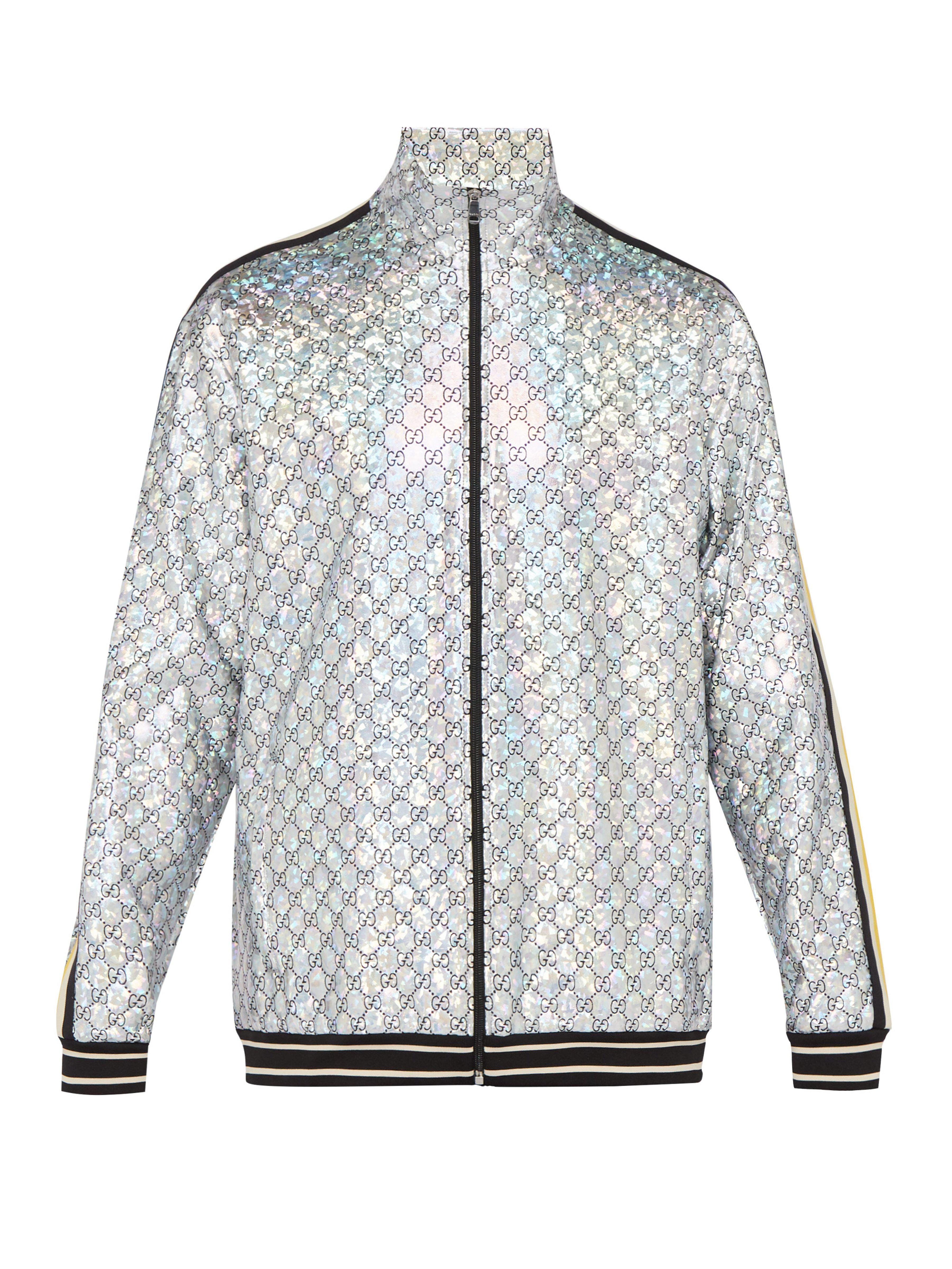 a84daabdd48 Gucci Gg Stretch Jersey Track Jacket in Metallic for Men - Lyst
