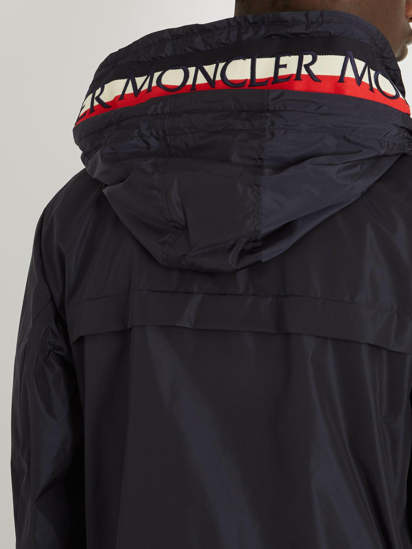 2f42a870a3cc Lyst - Moncler Gradignan Double Hooded Technical Jacket in Blue for Men