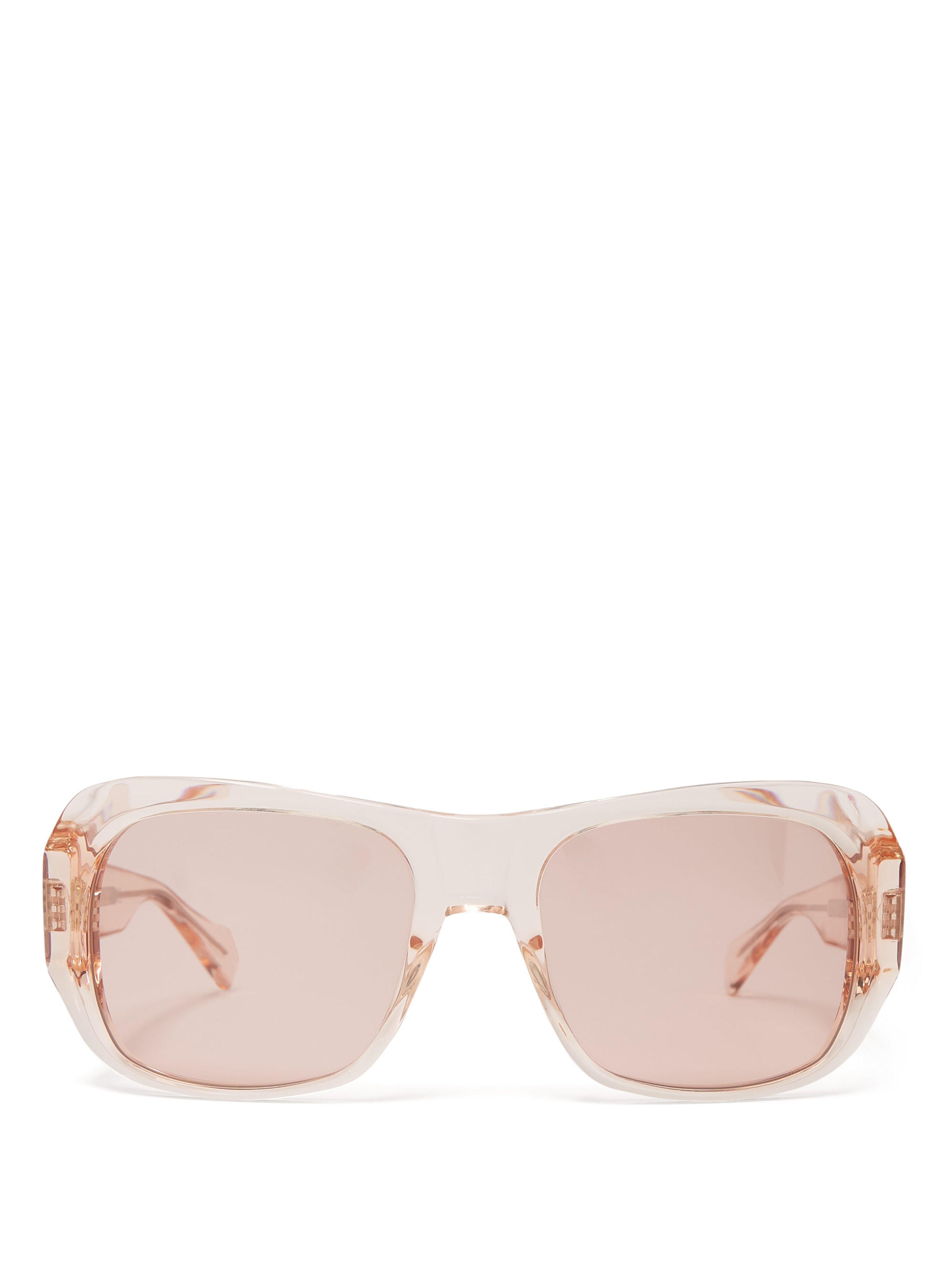 0f8c88baed0 Céline Rectangular Frame Acetate Sunglasses in Pink - Lyst