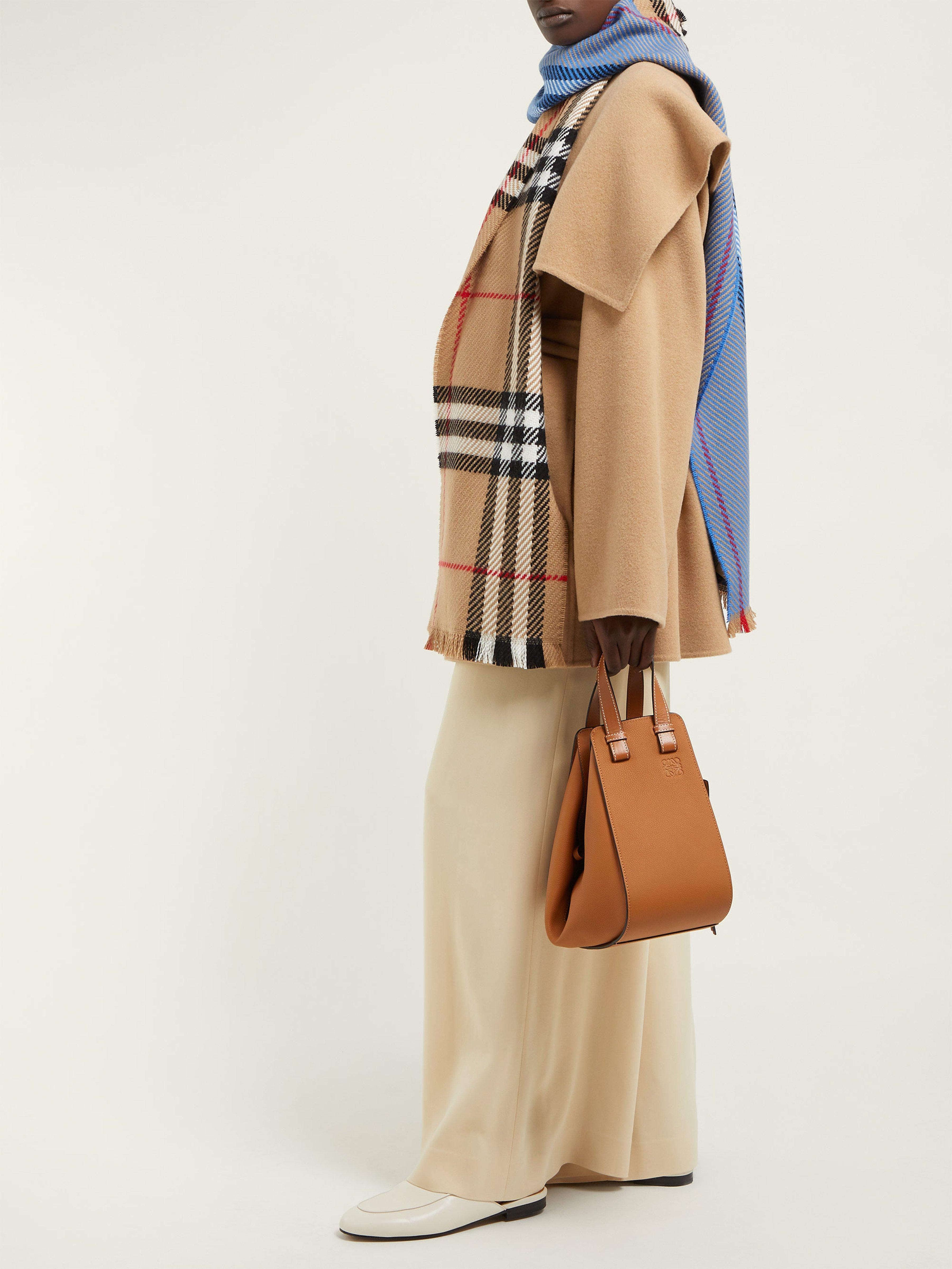 Burberry - Blue Colour Block Extra Fine Merino Wool Check Scarf - Lyst.  View fullscreen 9e427322da