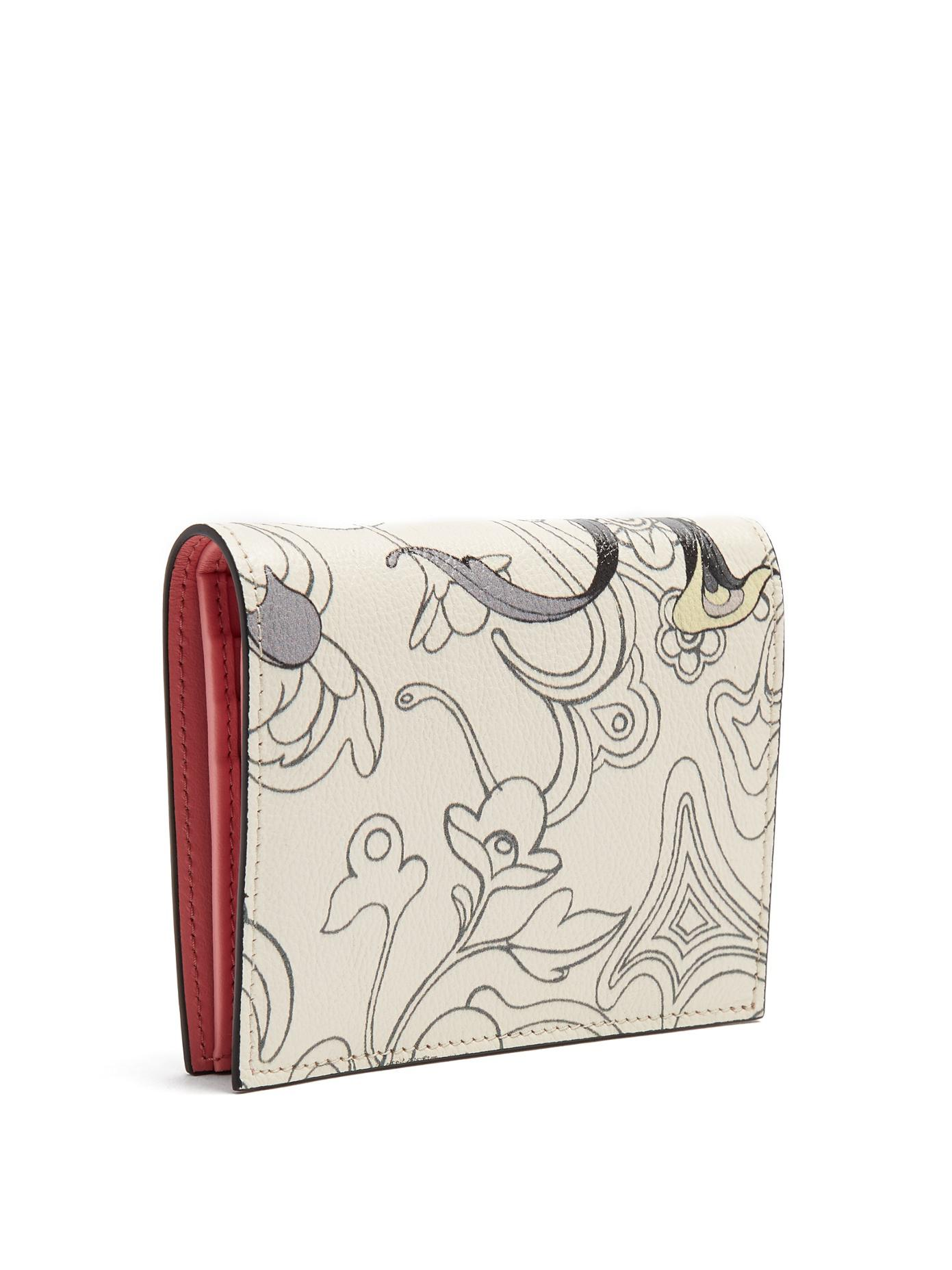 c3500088d3cb99 Prada Rabbit-print Bi-fold Leather Wallet in Pink - Lyst