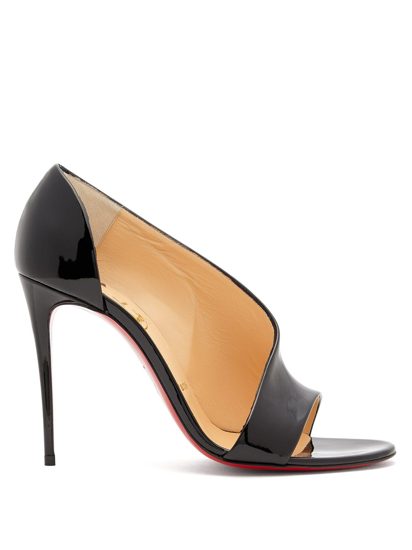 b4feae6ab0c Lyst - Christian Louboutin Phoebe 100 Patent Leather Pumps in Black ...