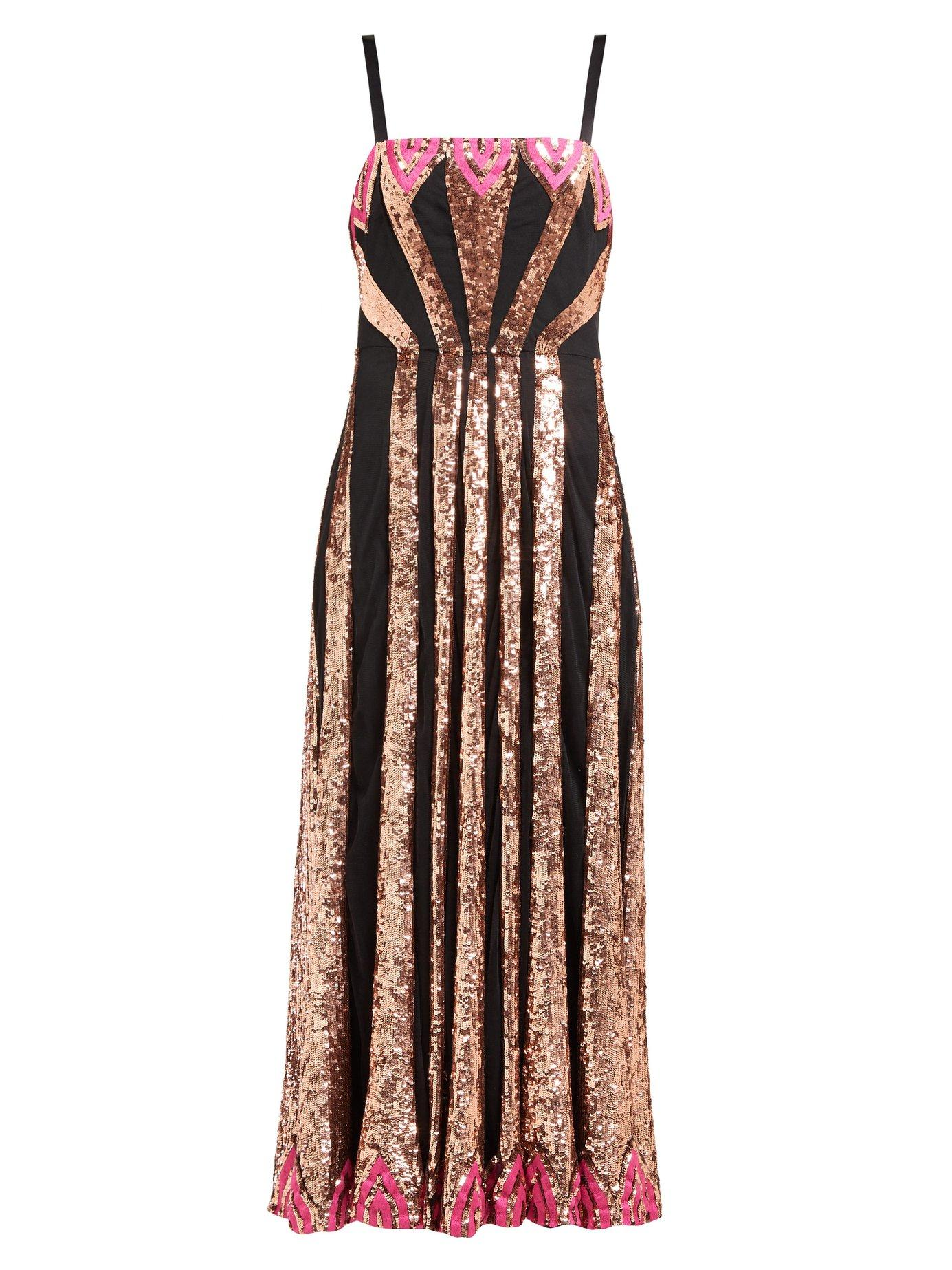 f399f235d7f Temperley London. Women s Sycamore Sequinned Mesh Dress