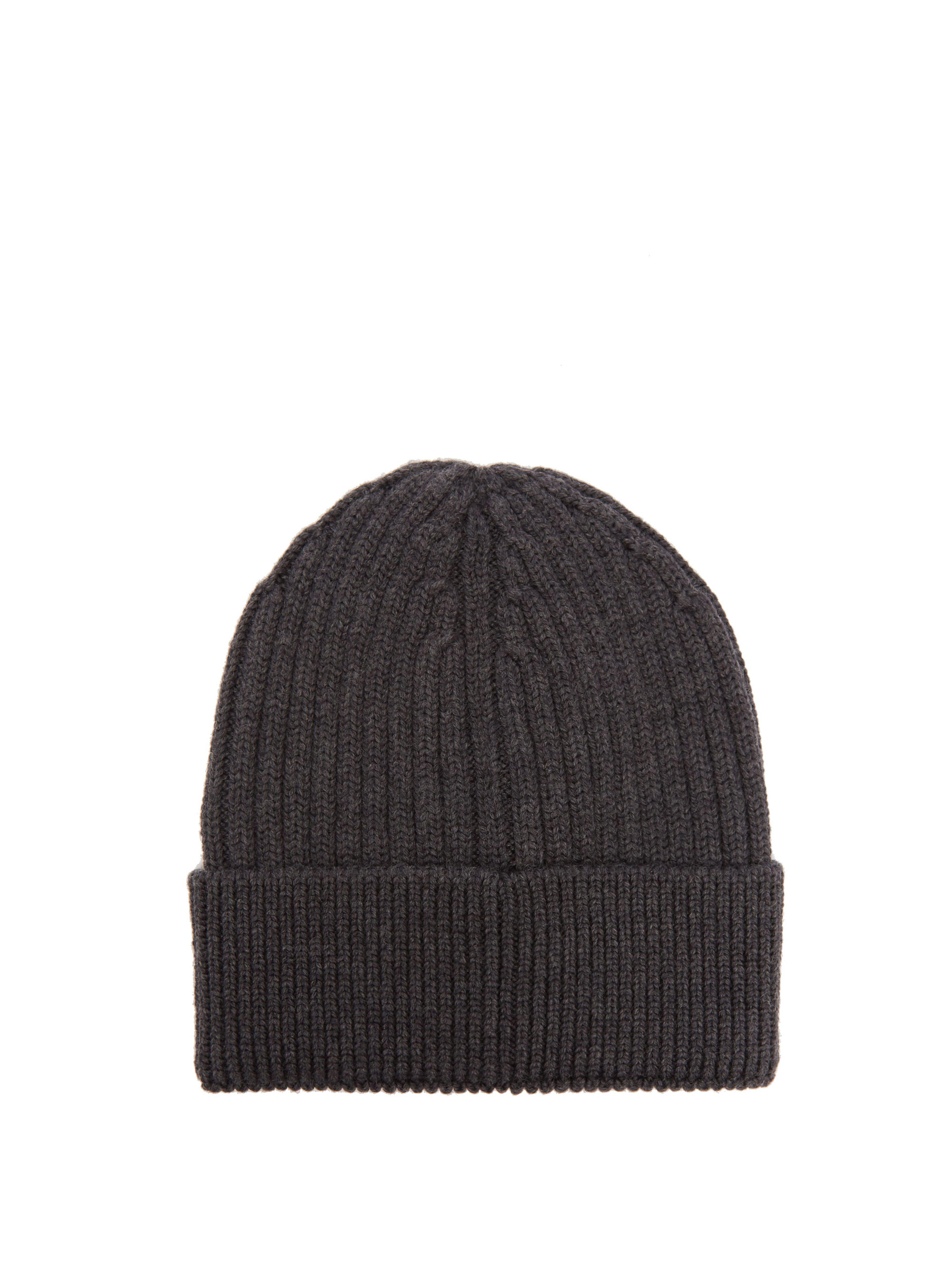 6851e5474e9 Moncler Grenoble Logo Embroidered Wool Beanie Hat in Gray for Men - Lyst