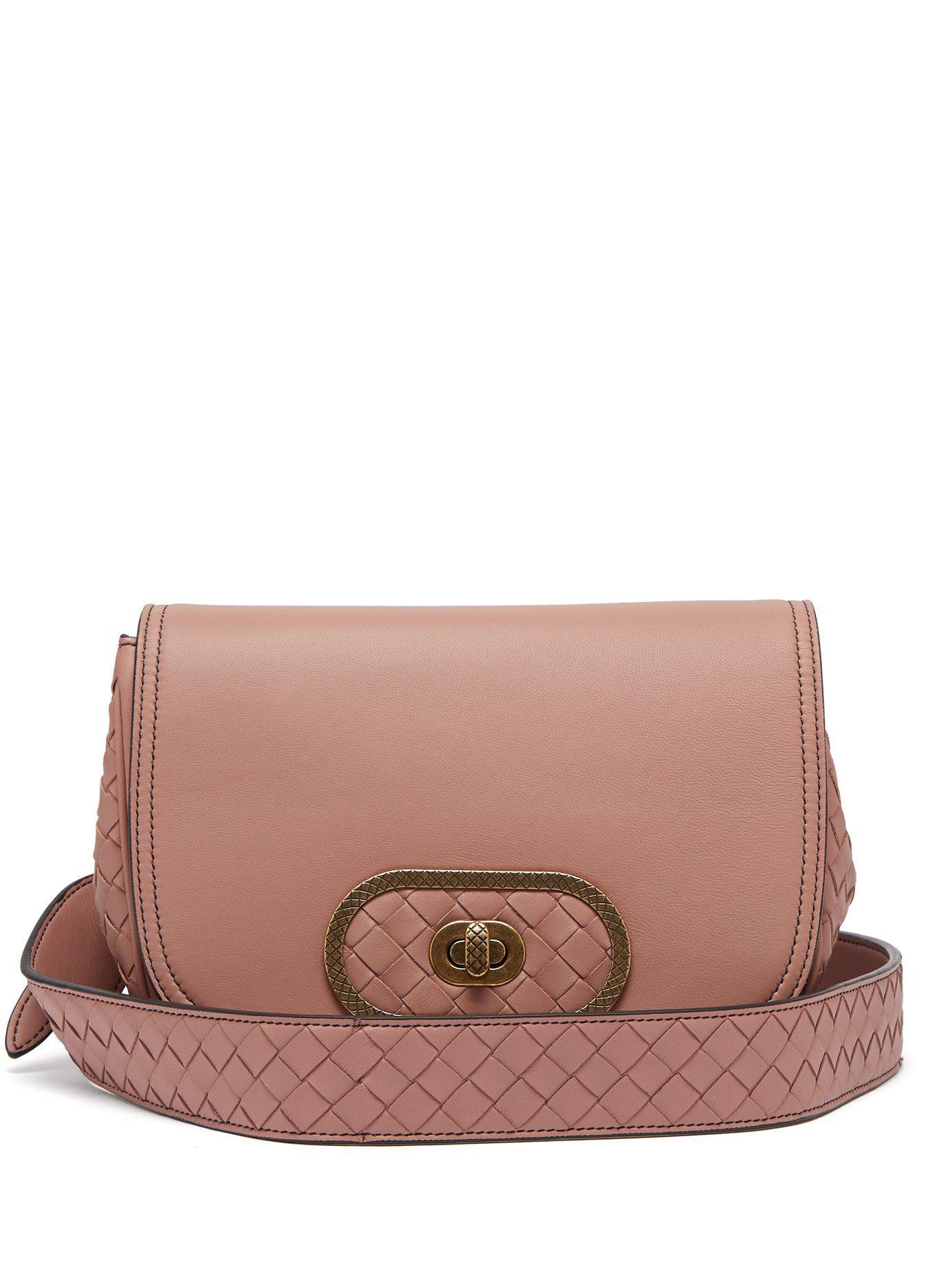 cd5718164d8b Lyst - Bottega Veneta Bv Luna Leather Cross Body Bag in Pink