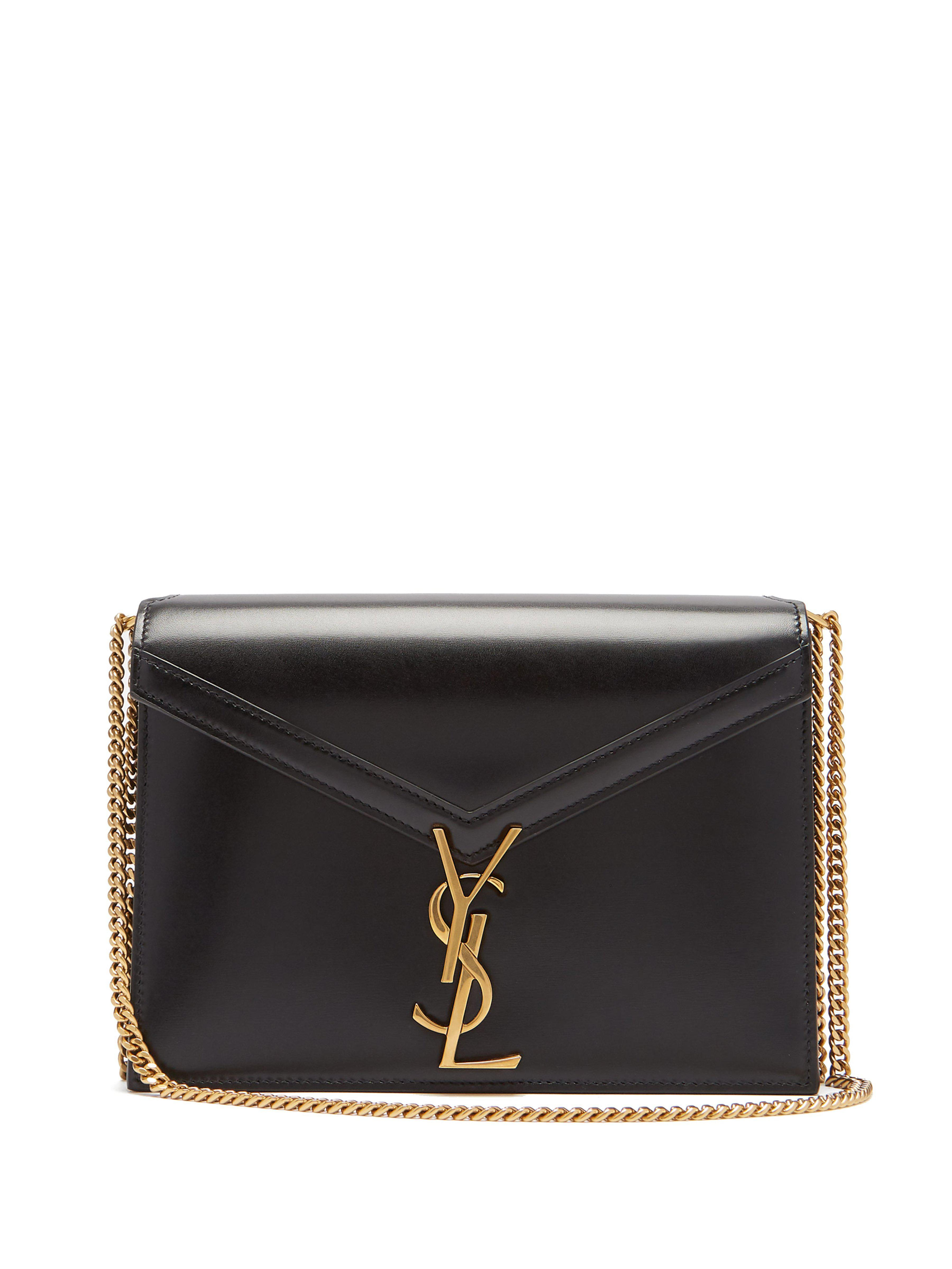 Saint Laurent Cassandra Monogram Leather Cross Body Bag in Black - Lyst 5f02627298939